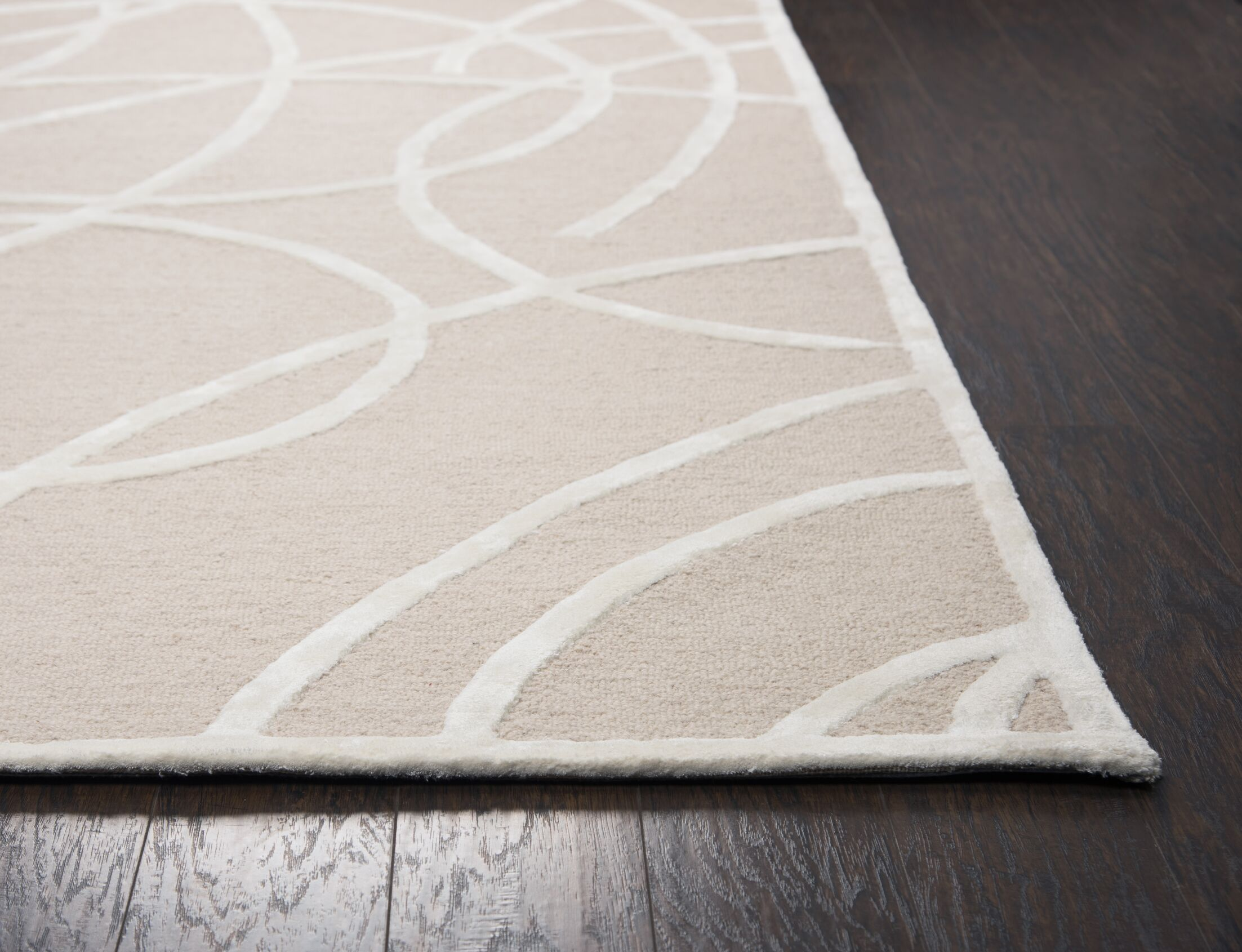 Climenhaga Hand-Tufted Brown/White Area Rug Size: Runner 2'6