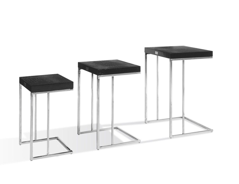 Camron 3 Piece Nesting Tables Color: Black