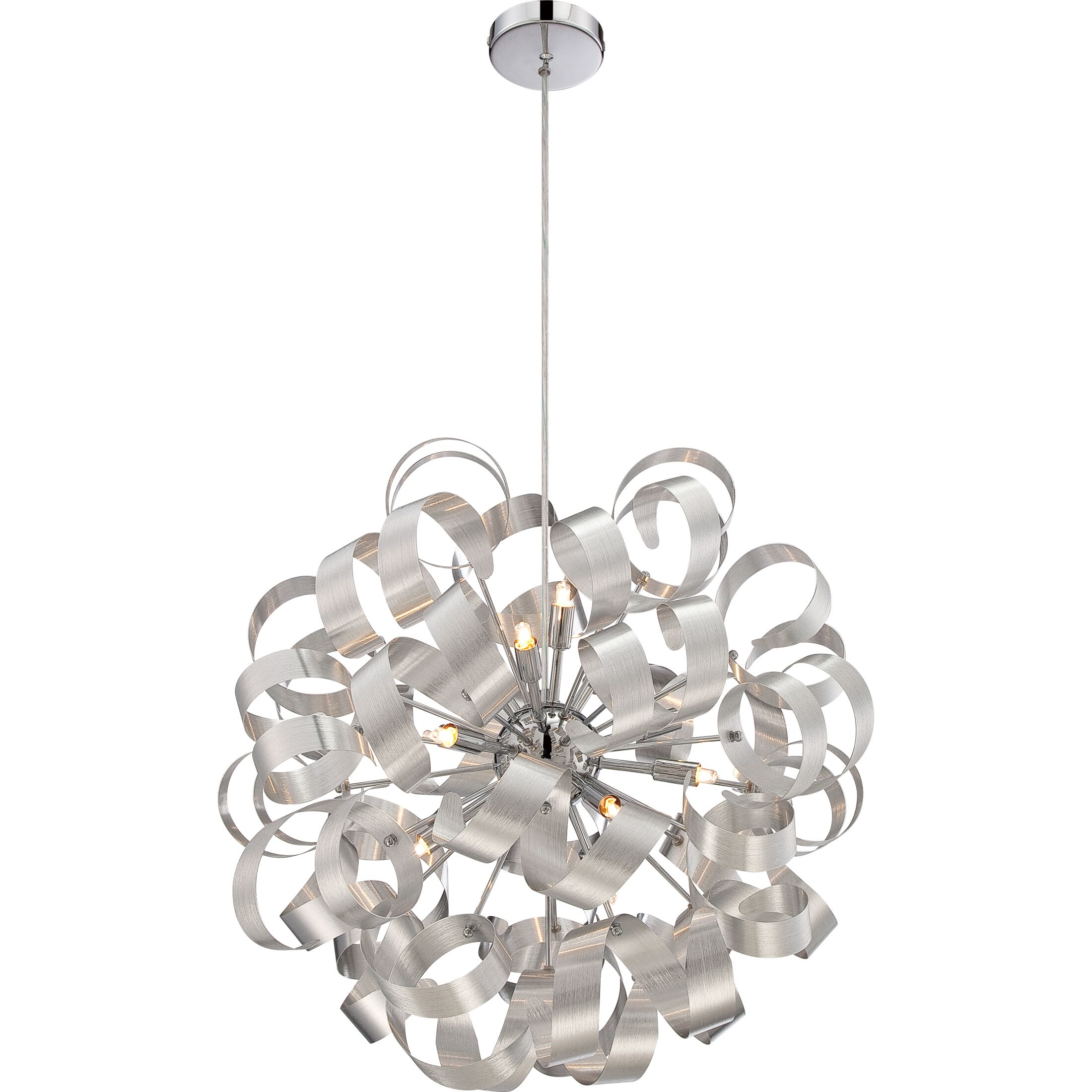 Jaelyn 5-Light Sputnik Chandelier Finish: Millenia, Size: 23