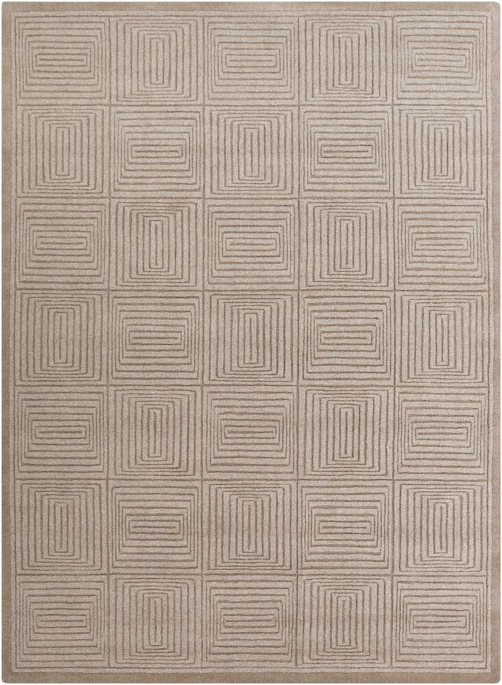 Brylee Taupe Area Rug Rug Size: Rectangle 8' x 11'