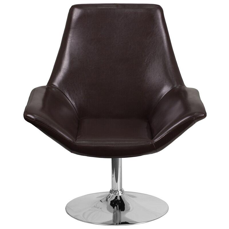 Bouffard Reception Lounge Chair Seat Color: Brown