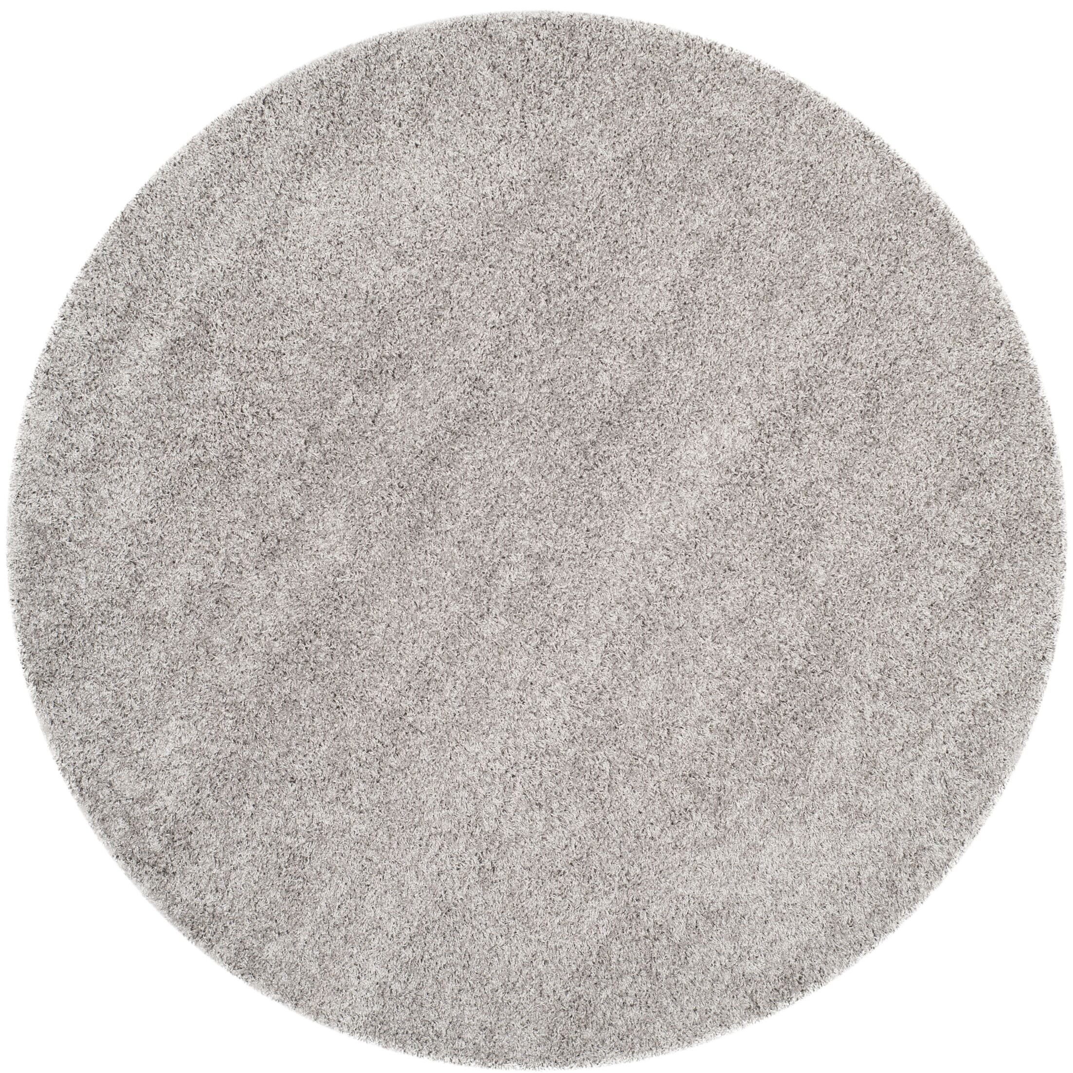 Mccall Silver Shag Area Rug Rug Size: Round 6'7