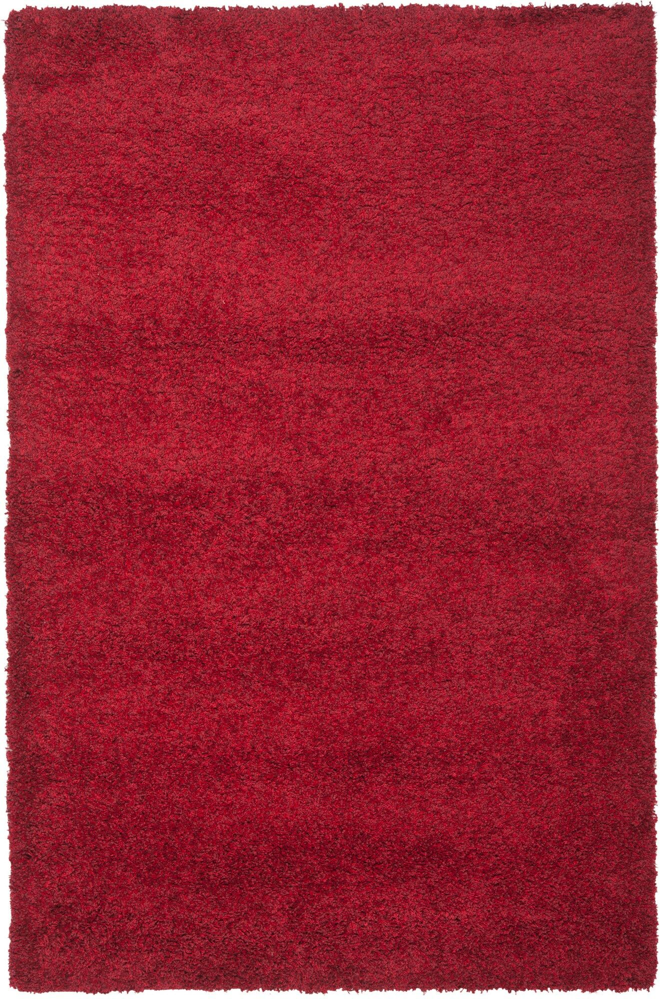 Rowen Handmade Red Area Rug Rug Size: Rectangle 8' x 10'