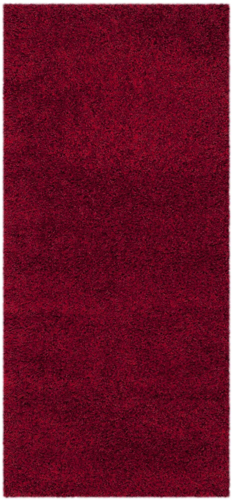 Rowen Handmade Red Area Rug Rug Size: Runner 2'3