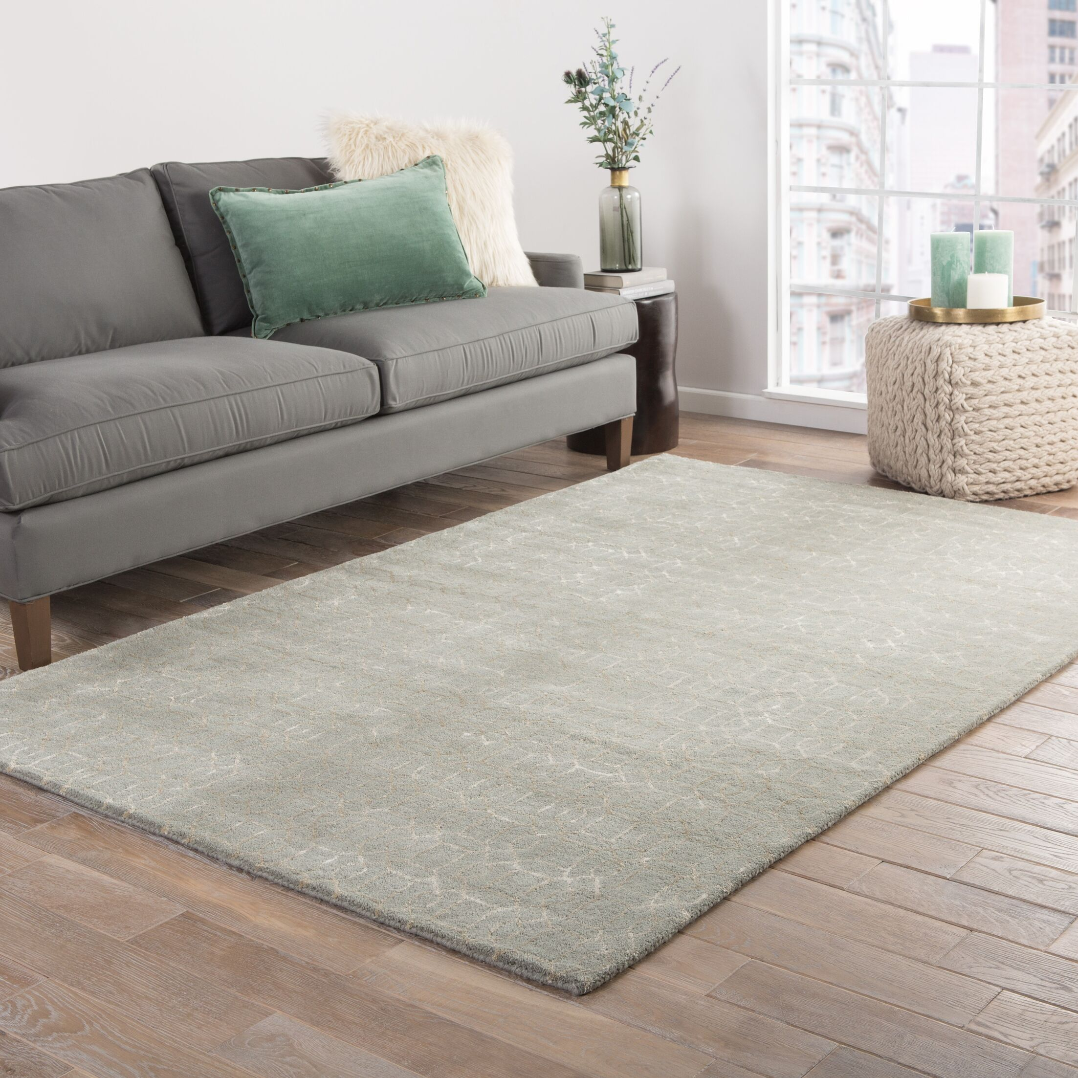 Bruce Hand-Tufted Green Area Rug Rug Size: Rectangle 9'6