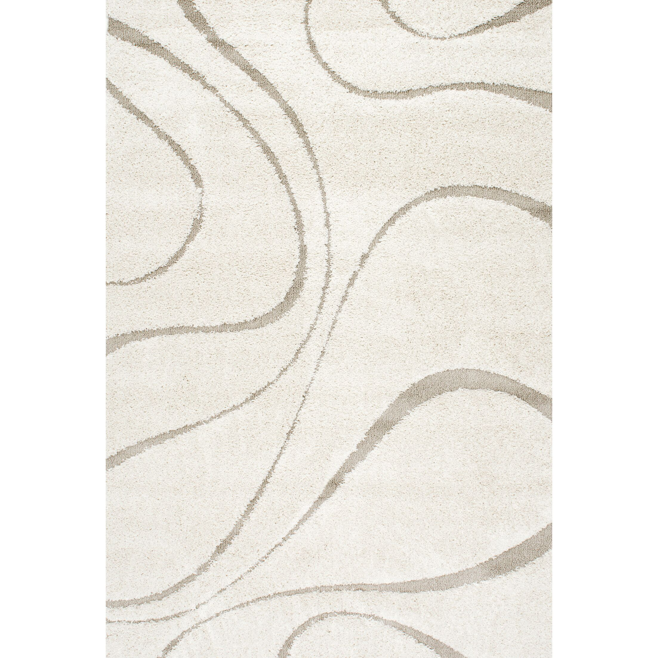 Helgeson White Area Rug Rug Size: Rectangle 7'10