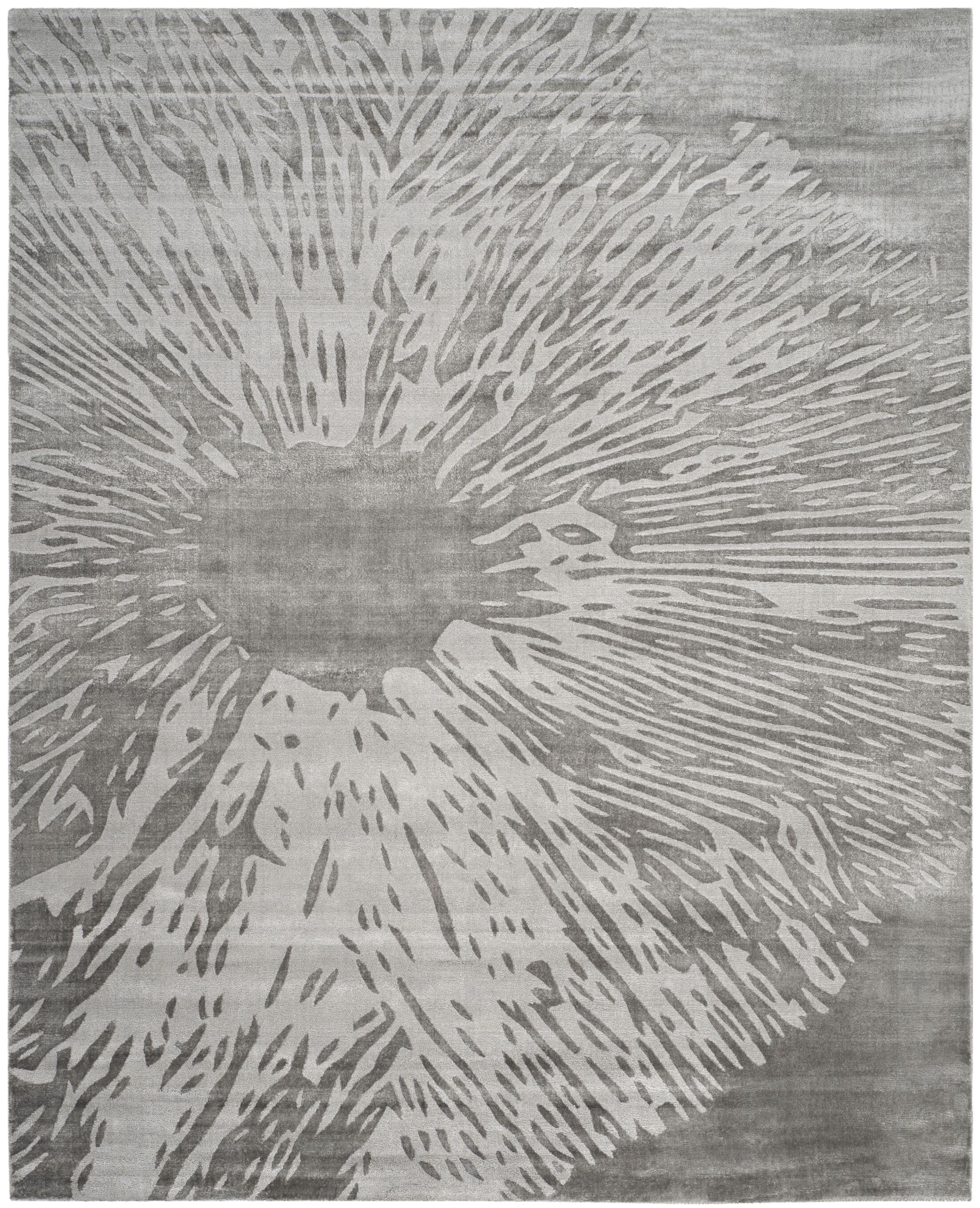 Moorhouse Hand-Woven Gray Area Rug Rug Size: Rectangle 8' x 10'
