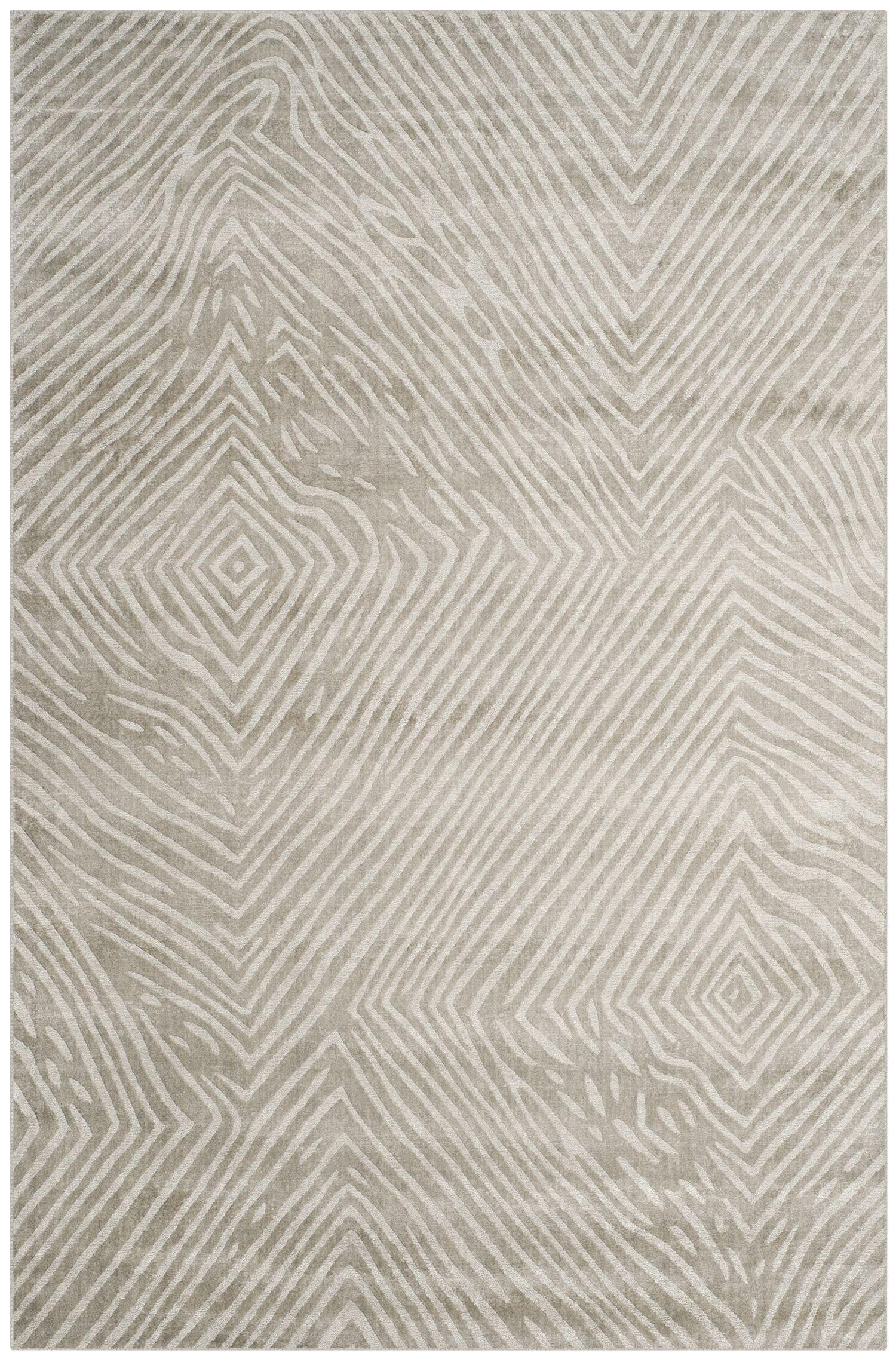 Moorhouse Hand-Woven Light Gray Area Rug Rug Size: Rectangle 6' x 9'