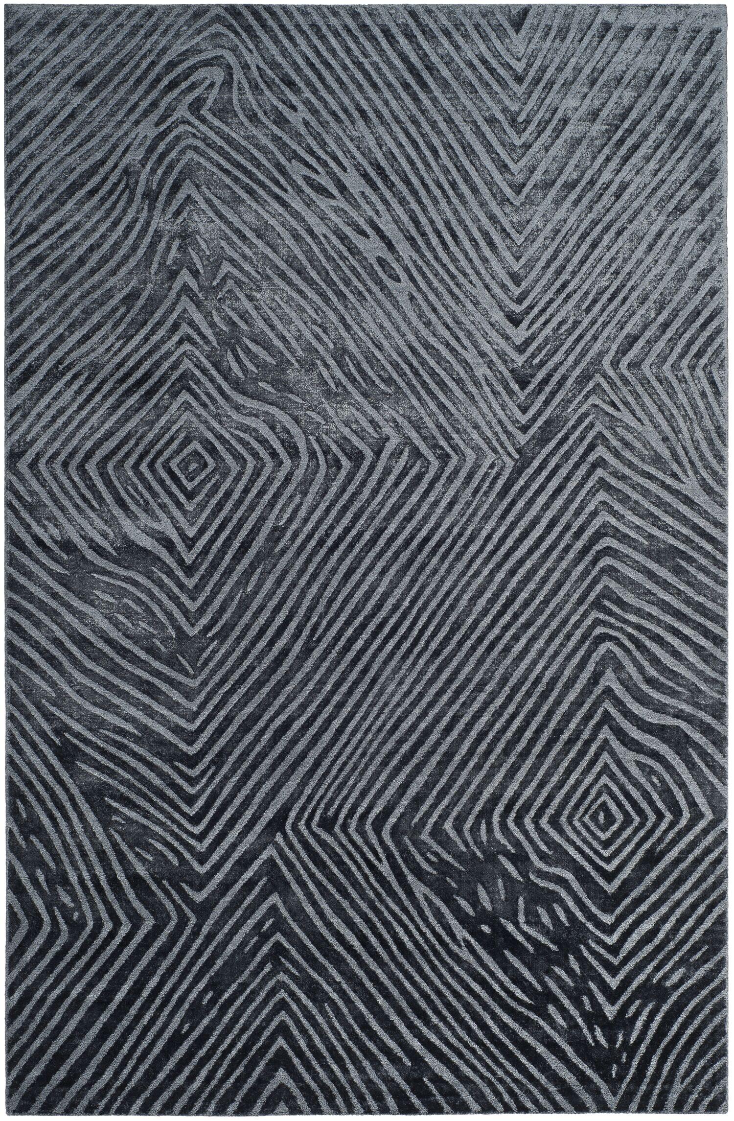Moorhouse Hand-Woven Blue/Gray Area Rug Rug Size: Rectangle 6' x 9'