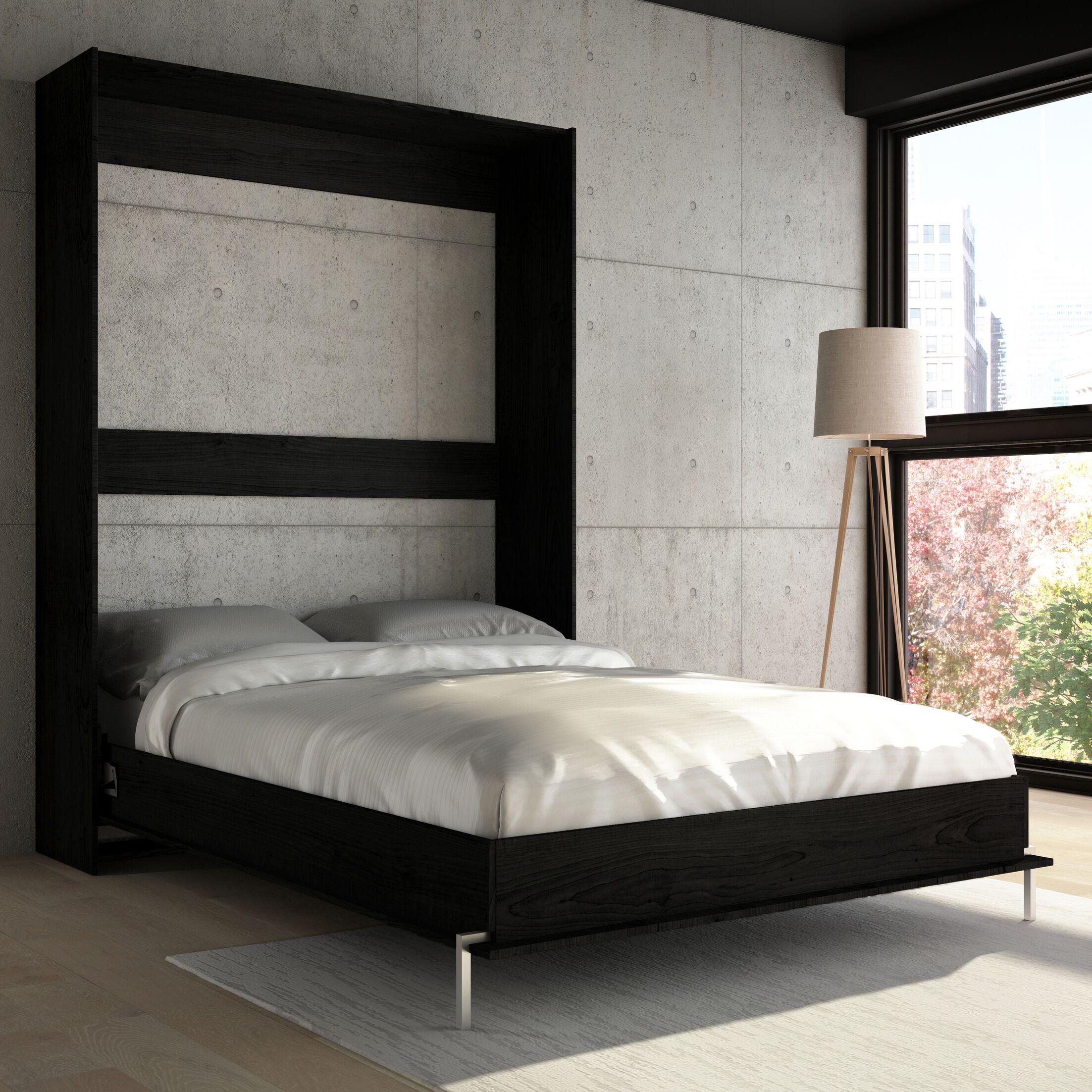Lower Weston Murphy Bed Size: Full, Color: Black Wood Grain
