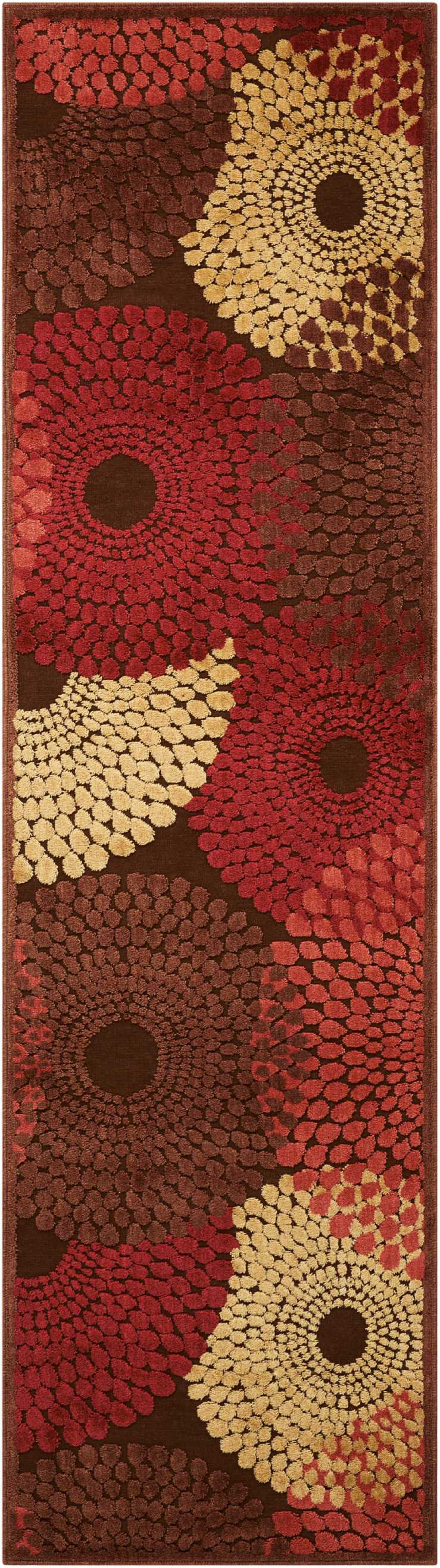 Brown/Red Area Rug Rug Size: Runner 1'11