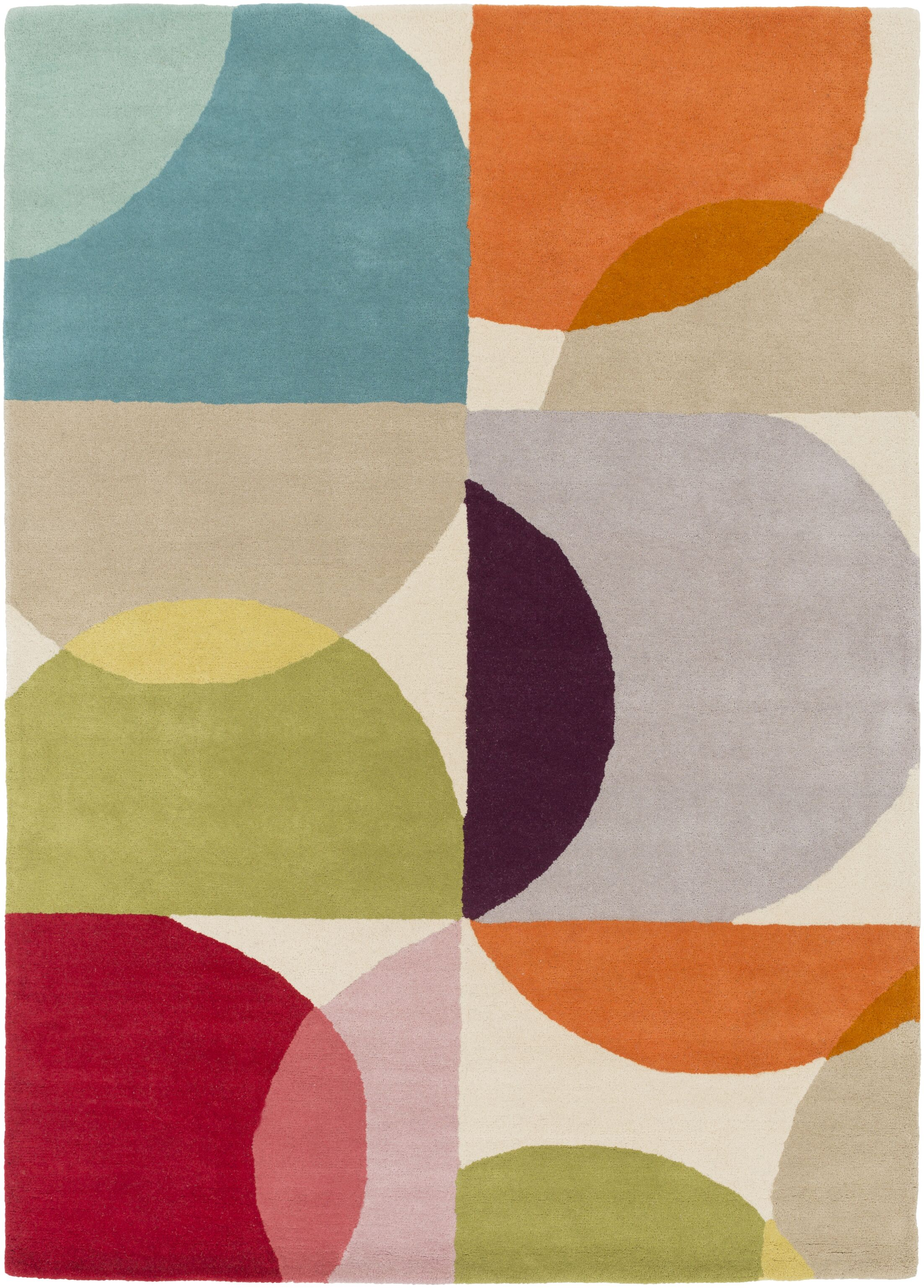Morgana Hand-Tufted Beige Area Rug Rug Size: Rectangle 3'3