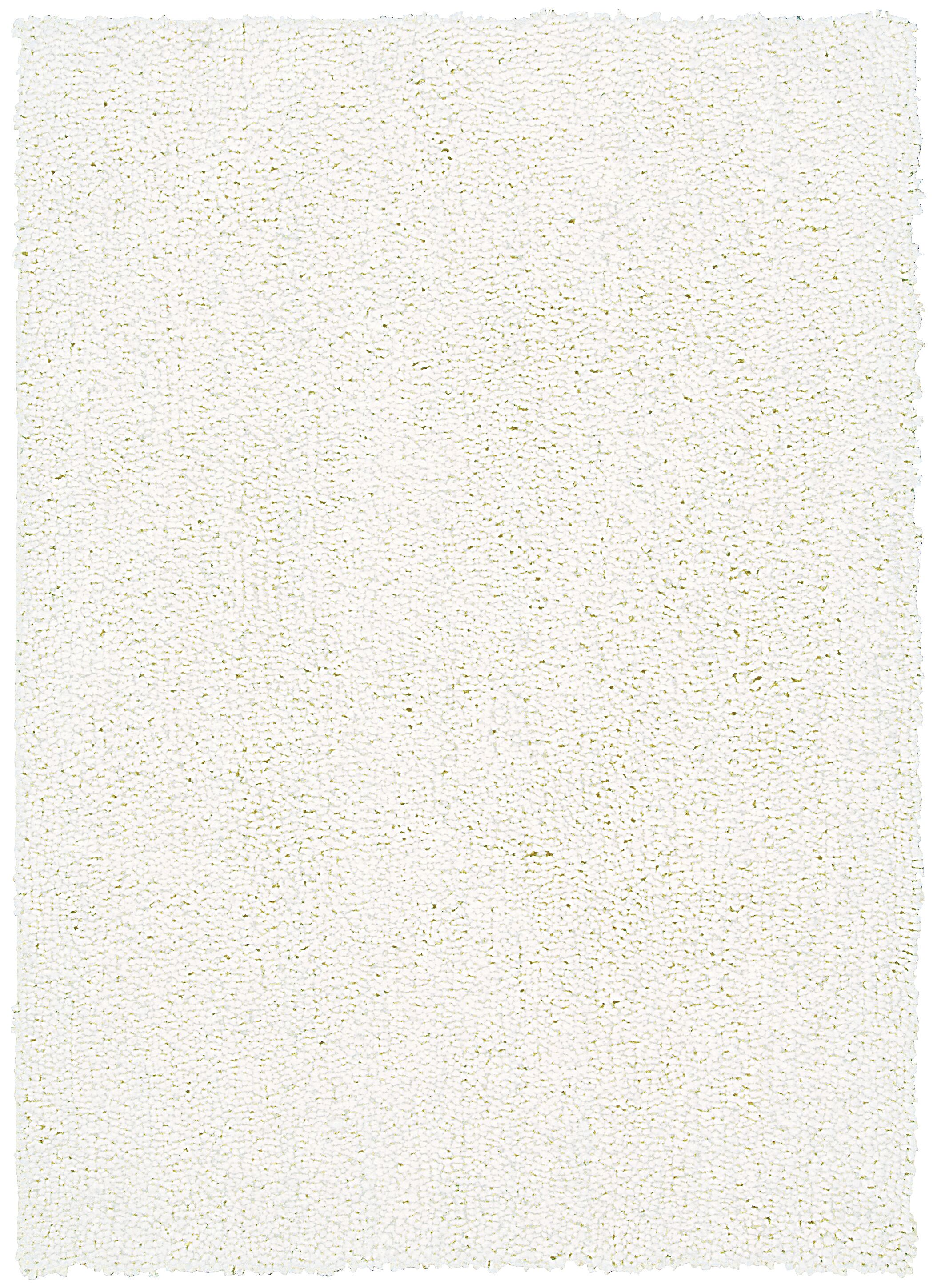 Carnlough North Hand-Woven White Area Rug Rug Size: Rectangle 4' x 6'