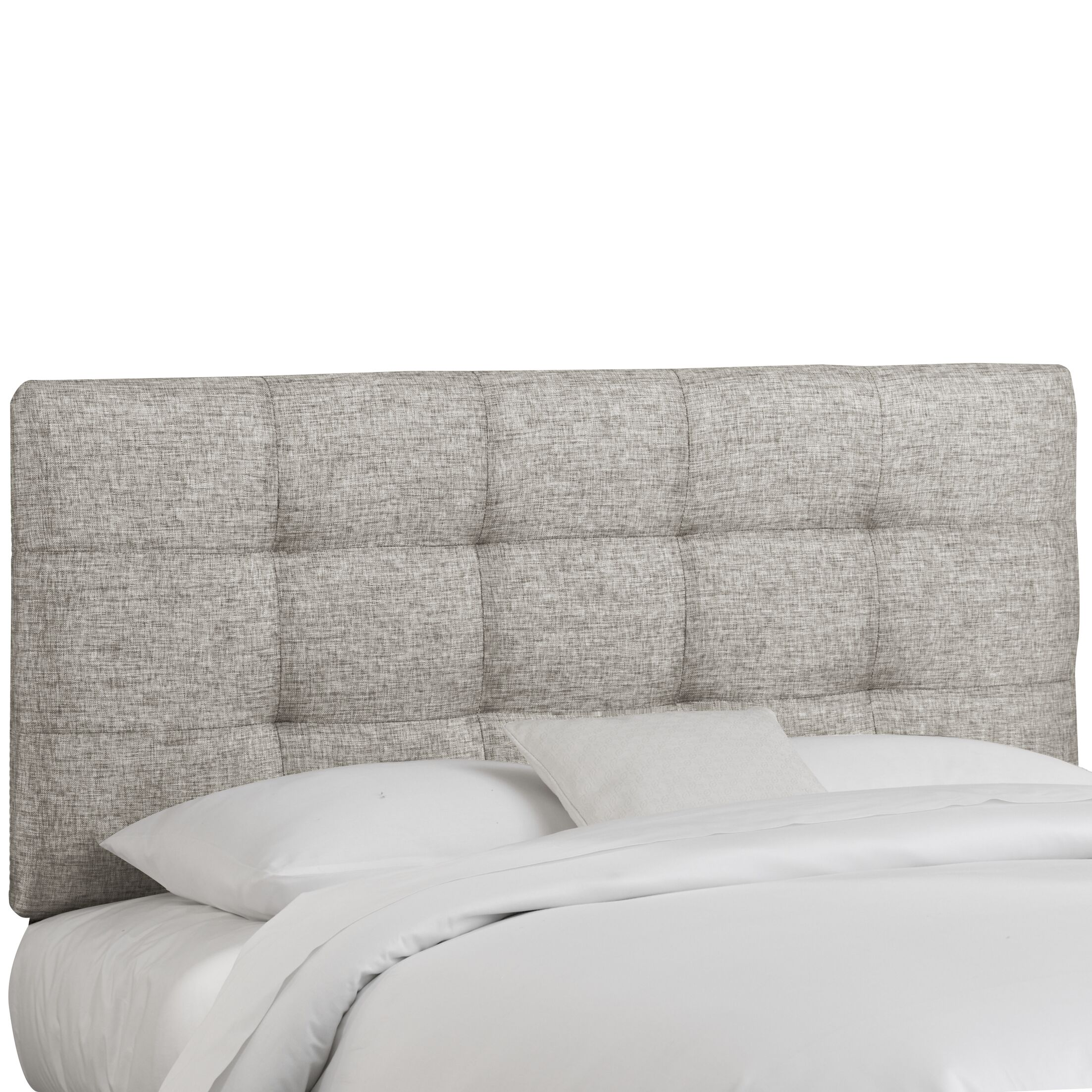 Emerson Tufted Upholstered Panel Headboard Size: Twin, Color: Groupie Pewter
