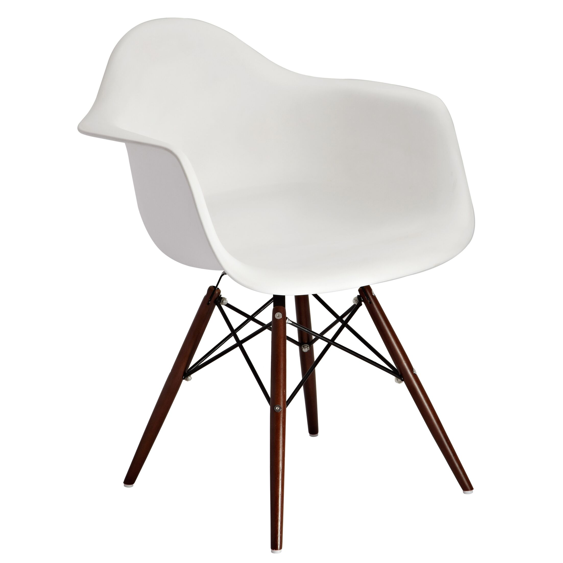 Mohnton Arm Chair (Set of 2) Finish: White / Brown