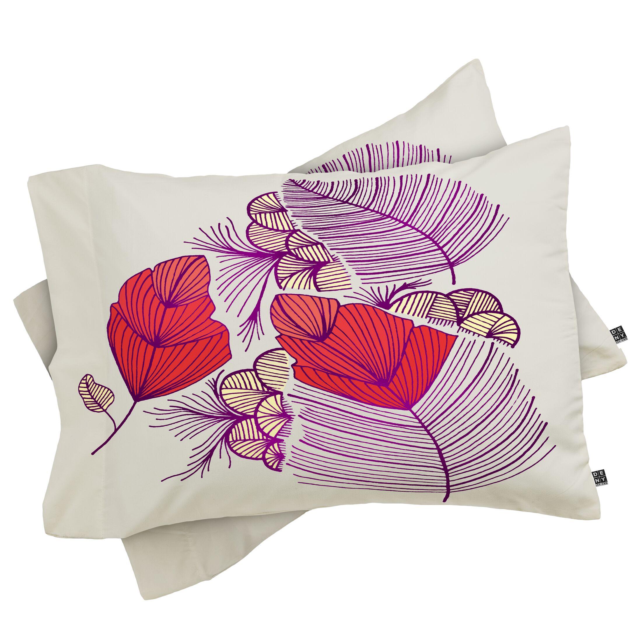 Leaves Pillowcase Size: King