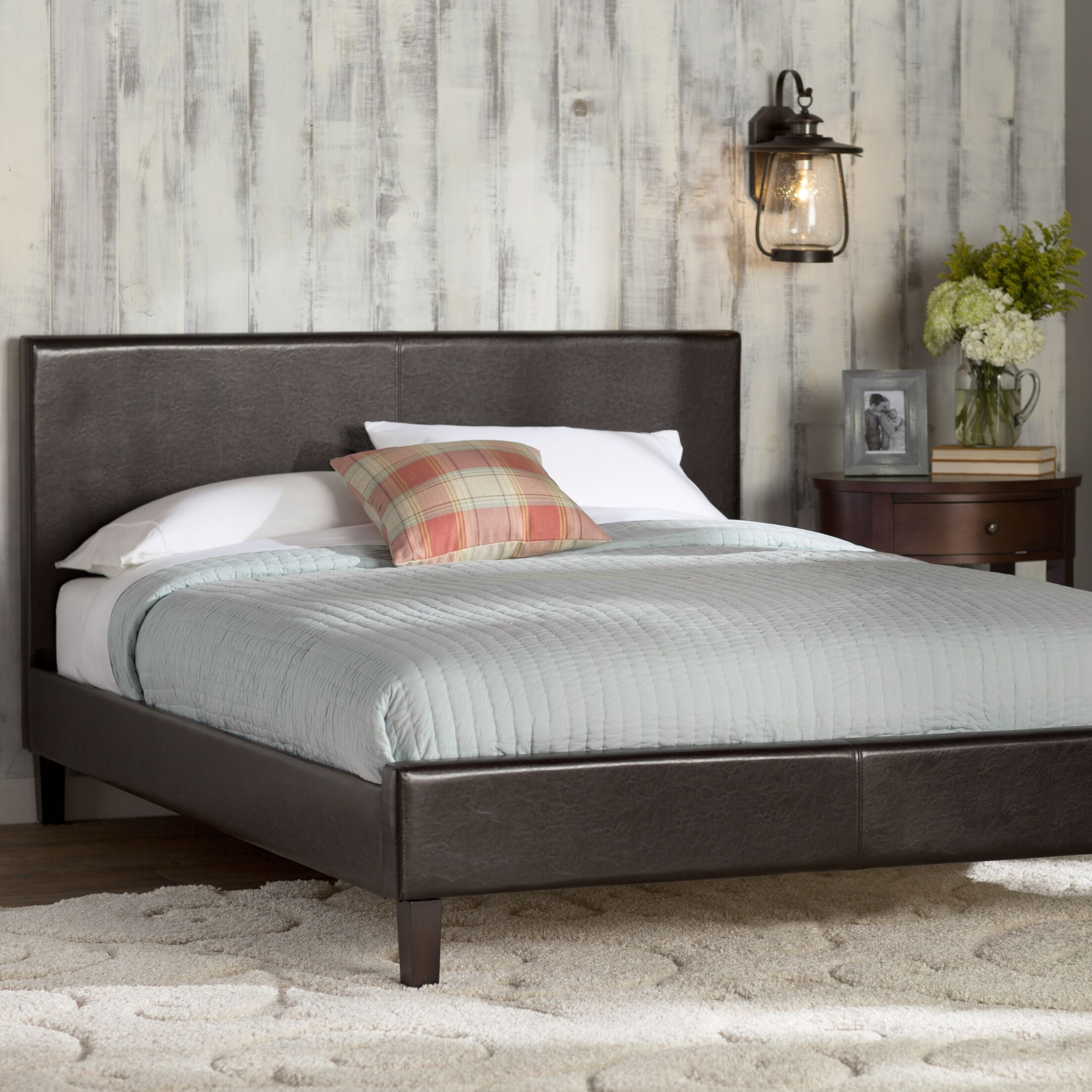 Duncansland Upholstered Platform Bed Size: Queen, Color: Brown