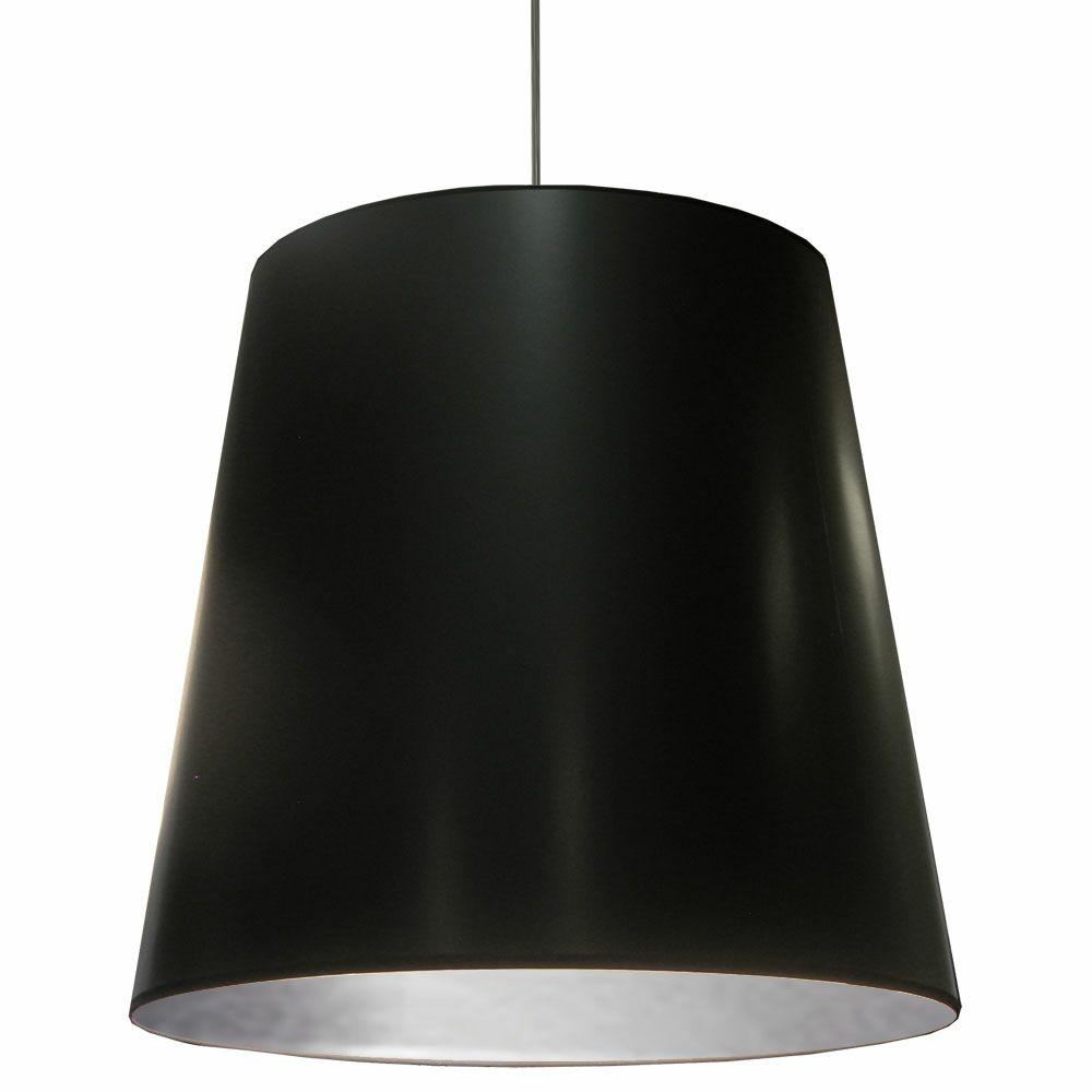 Santa Rosa 1-Light Cone Pendant Shade Color: Black on Silver, Size: 32