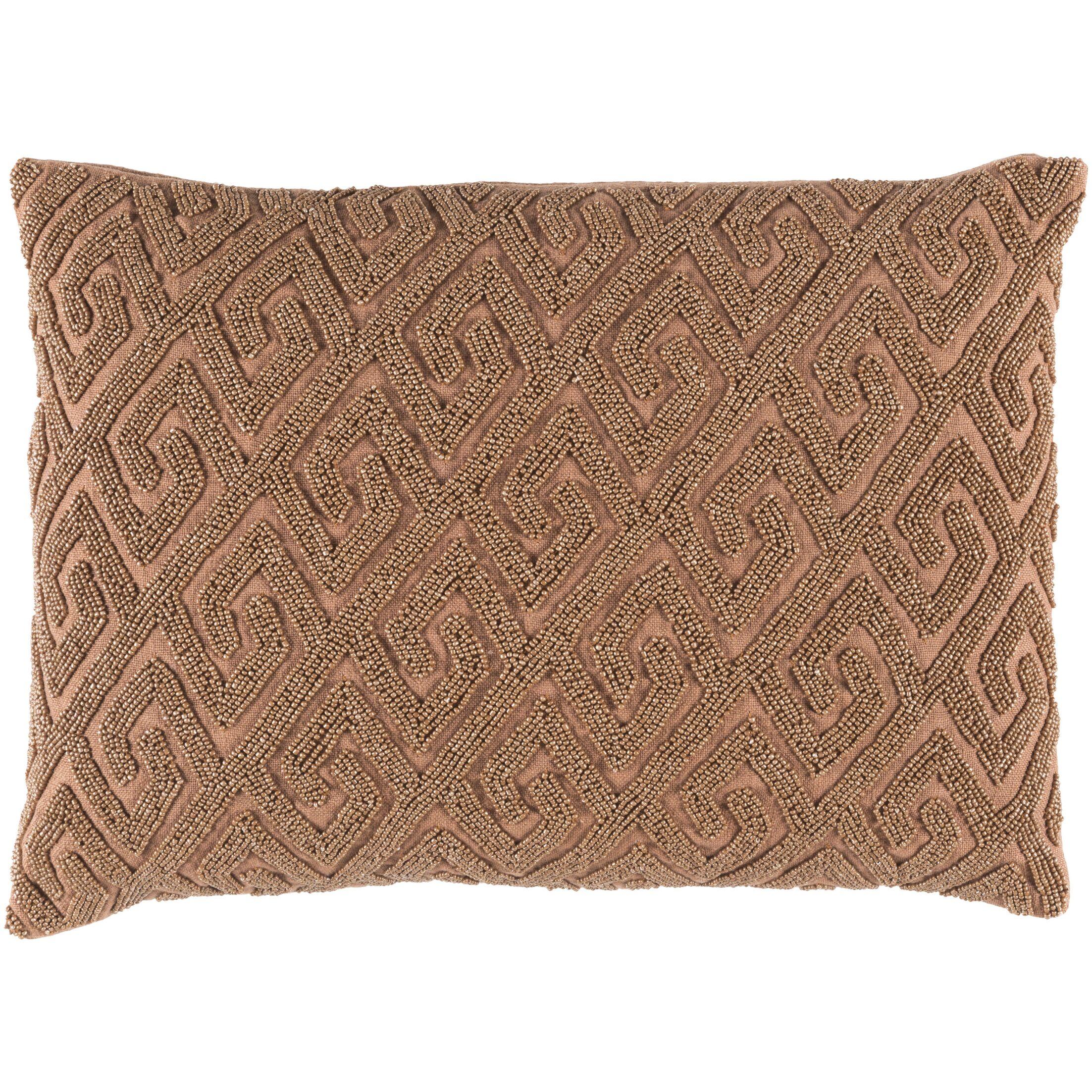 Dexter 100% Cotton Lumbar Pillow Cover Color: Brown