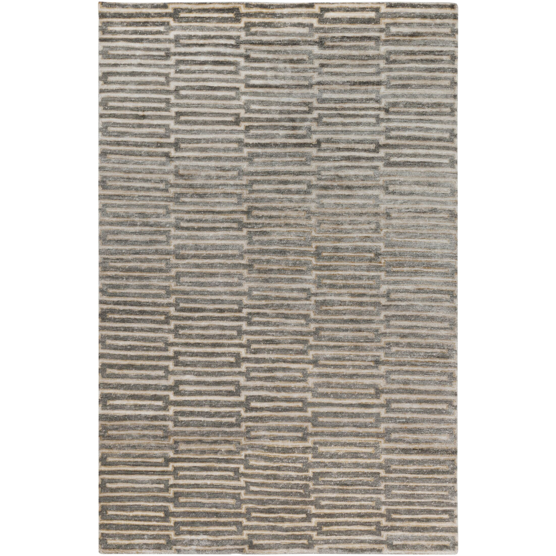 Olinda Hand-Knotted Khaki Area Rug Rug Size: Rectangle 5' x 8'