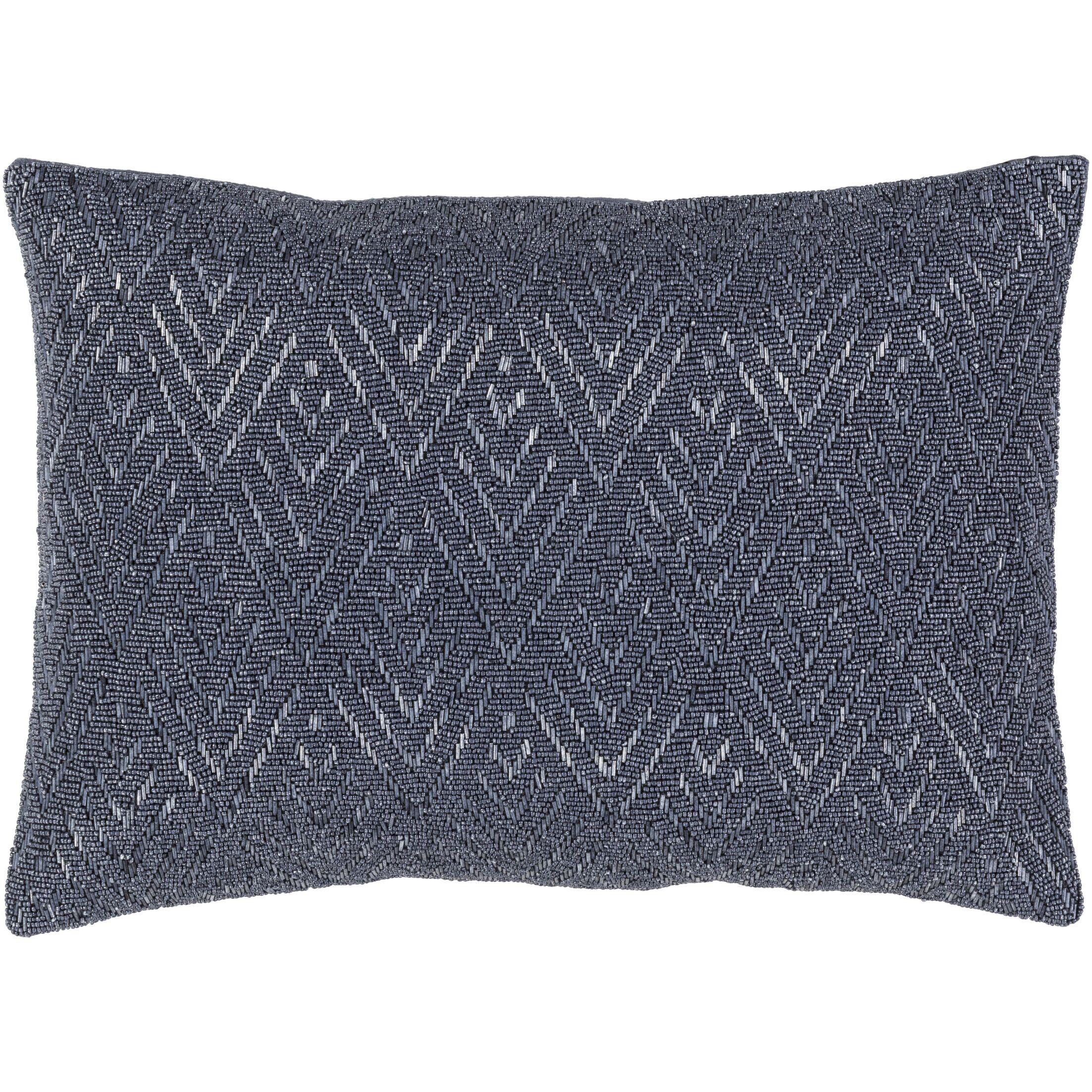 Monroe 100% Cotton Lumbar Pillow Color: Gray