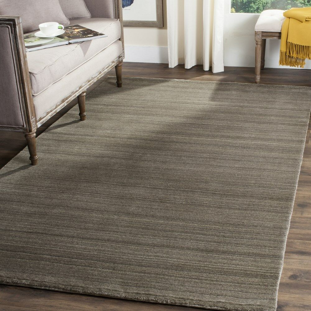 Anson Hand-Loomed Pewter Area Rug Rug Size: Rectangle 9' x 12'