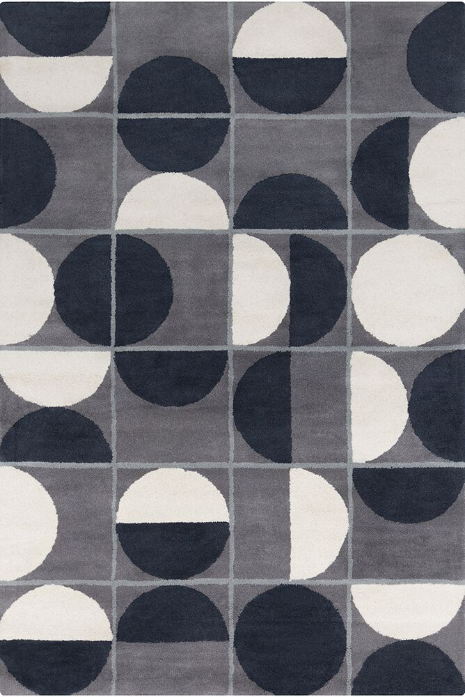 Willa Hand Tufted Wool Grey/Black Area Rug