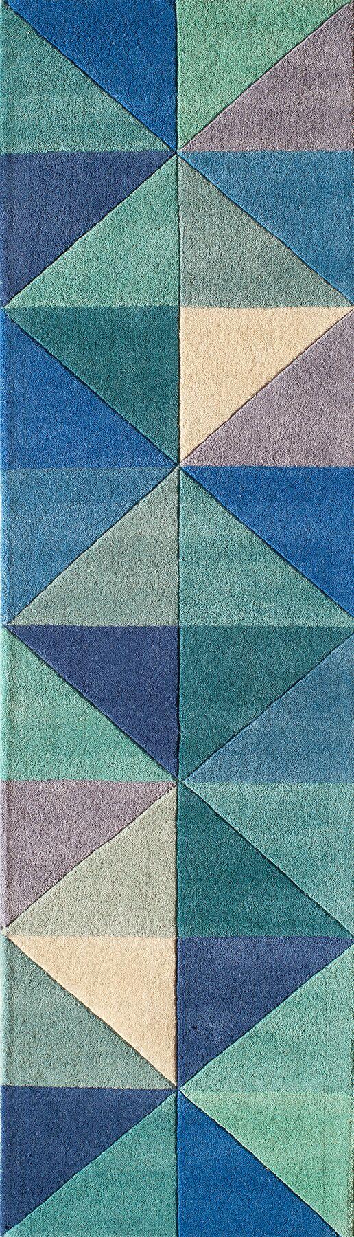Carmel Hand-Tufted Blue Area Rug Rug Size: Rectangle 5' x 8'