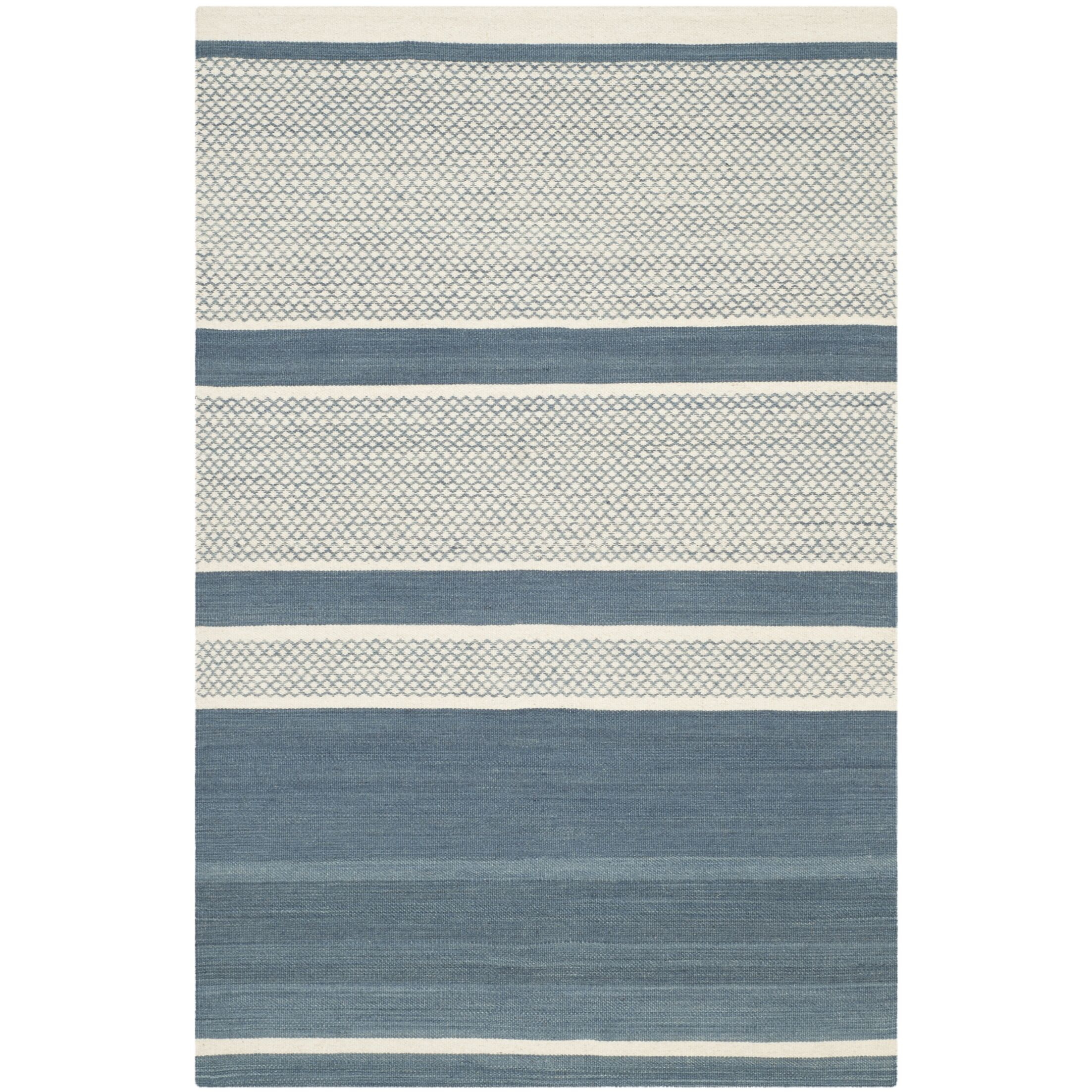Tricia Hand-Woven Cotton Area Rug Rug Size: Rectangle 5' x 8'