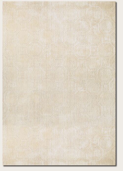 Natalie Hand-Woven Beige Area Rug Rug Size: Rectangle 5' x 8'