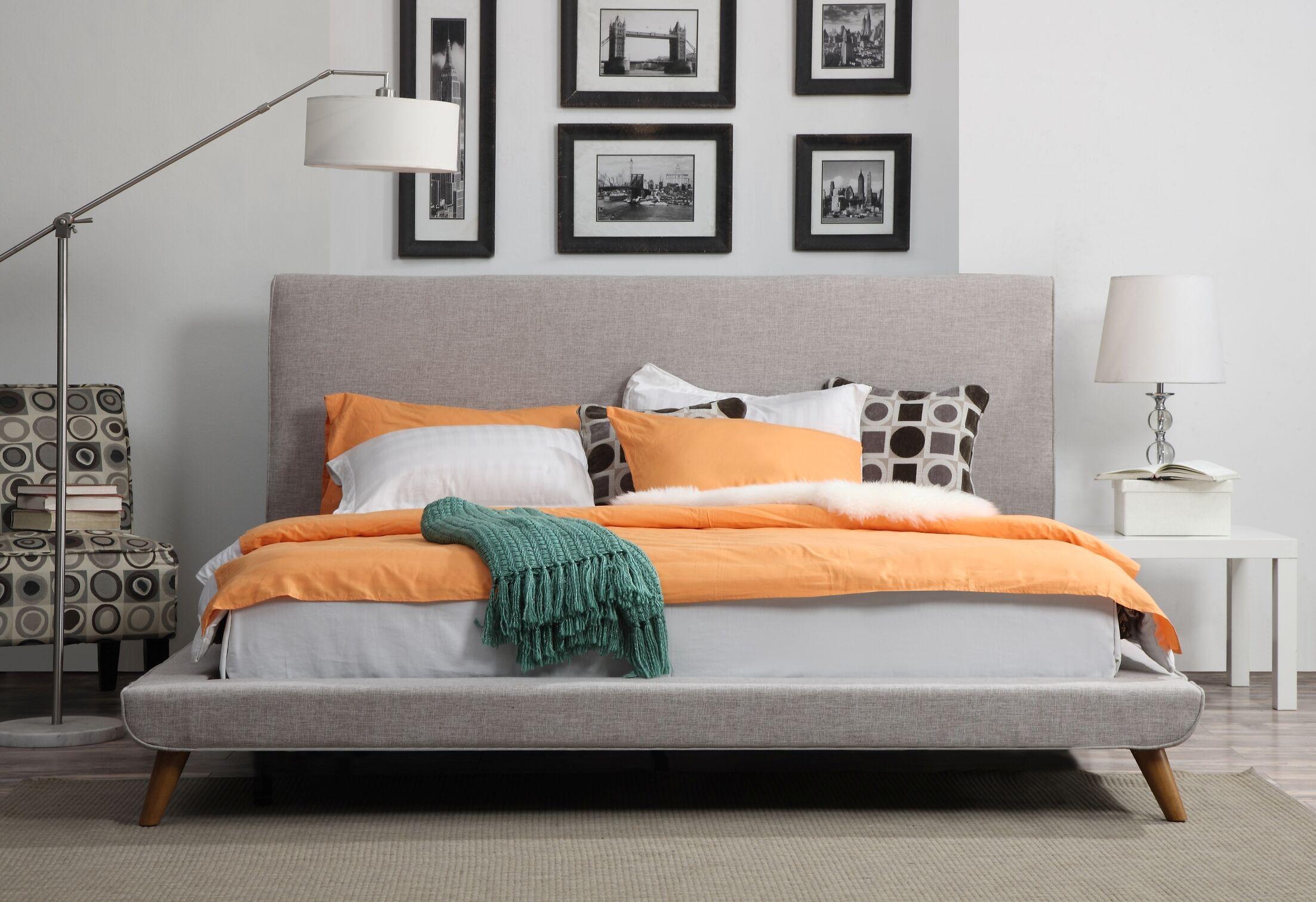 Valle Upholstered Platform Bed Color: Biscuit, Size: Full