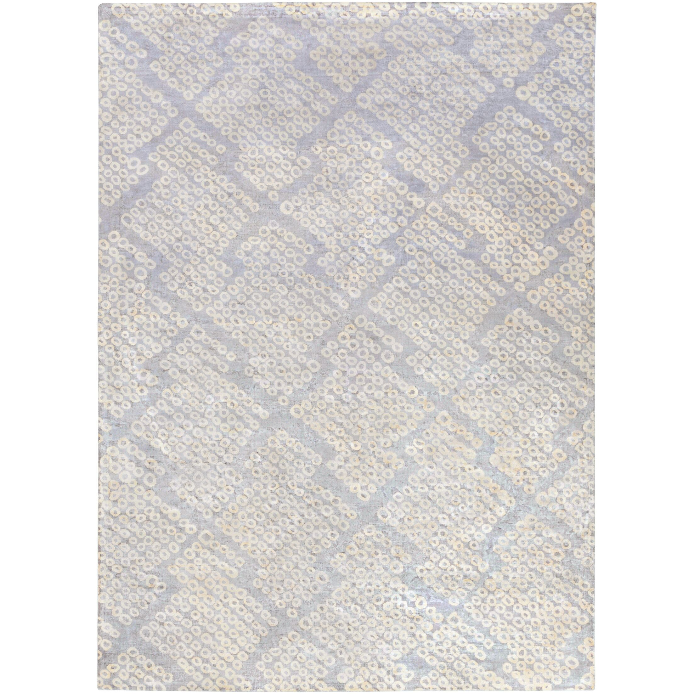 Villa Court Hand-Loomed Blue Area Rug Rug Size: Rectangle 8' x 11'
