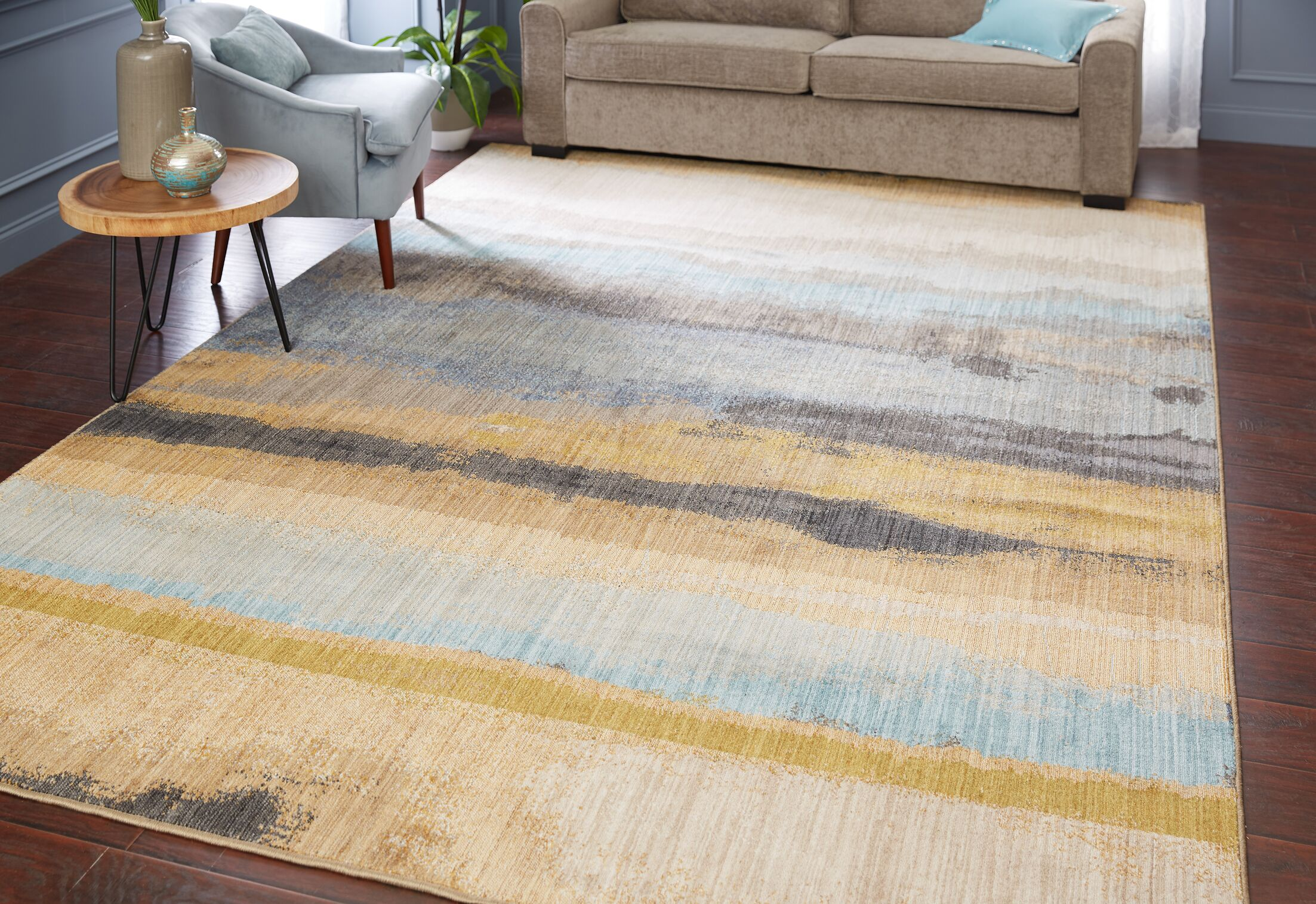 Evansville Golden Mustard Area Rug Rug Size: Rectangle 9'6