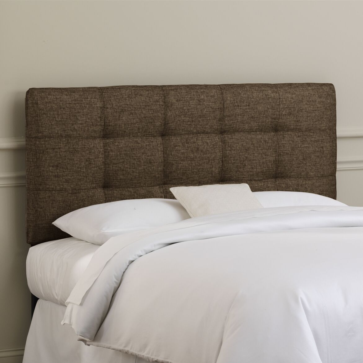 Emerson Tufted Upholstered Panel Headboard Size: Full, Color: Groupie Praline