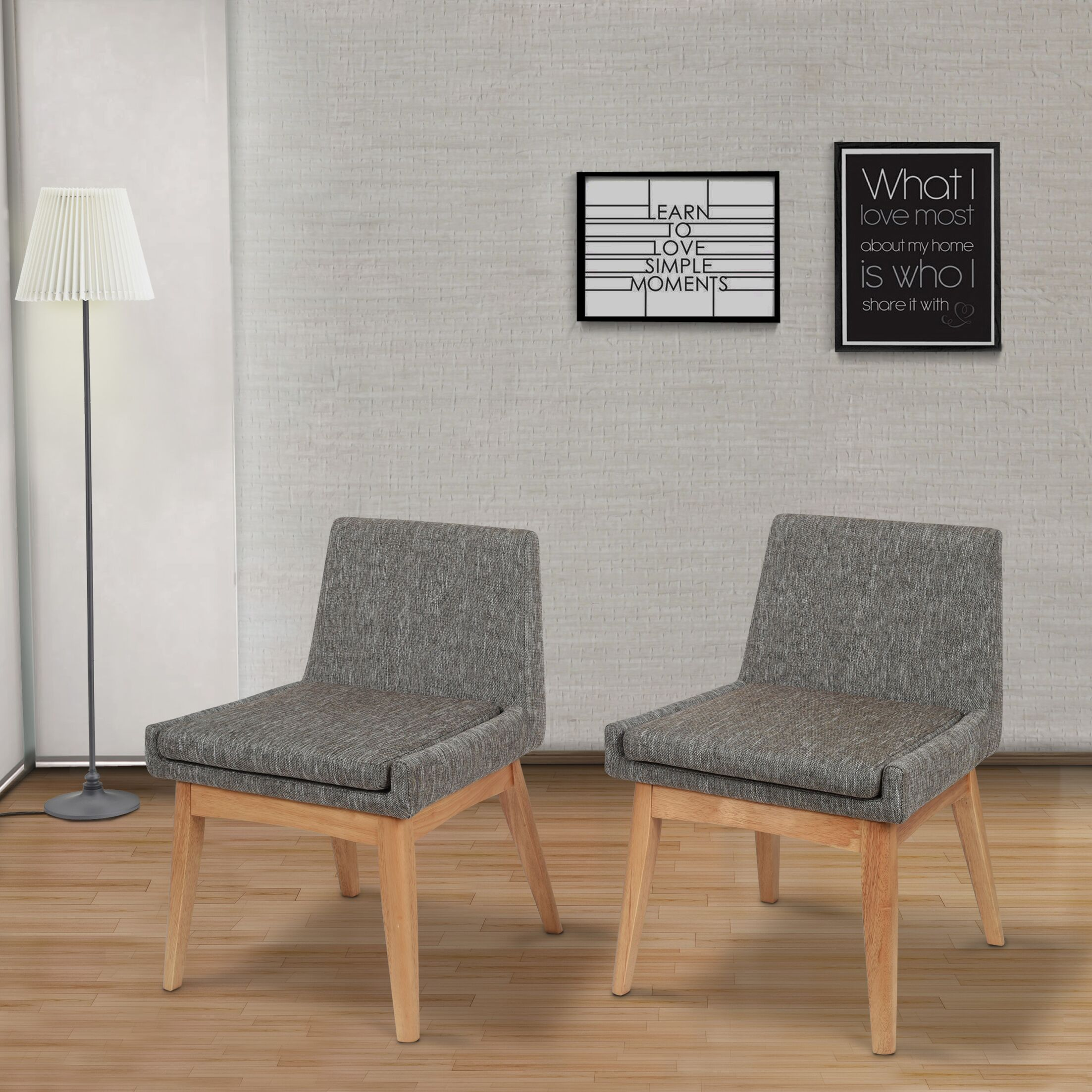 Perla Mid-century Side Chair Upholstery Color: Gray