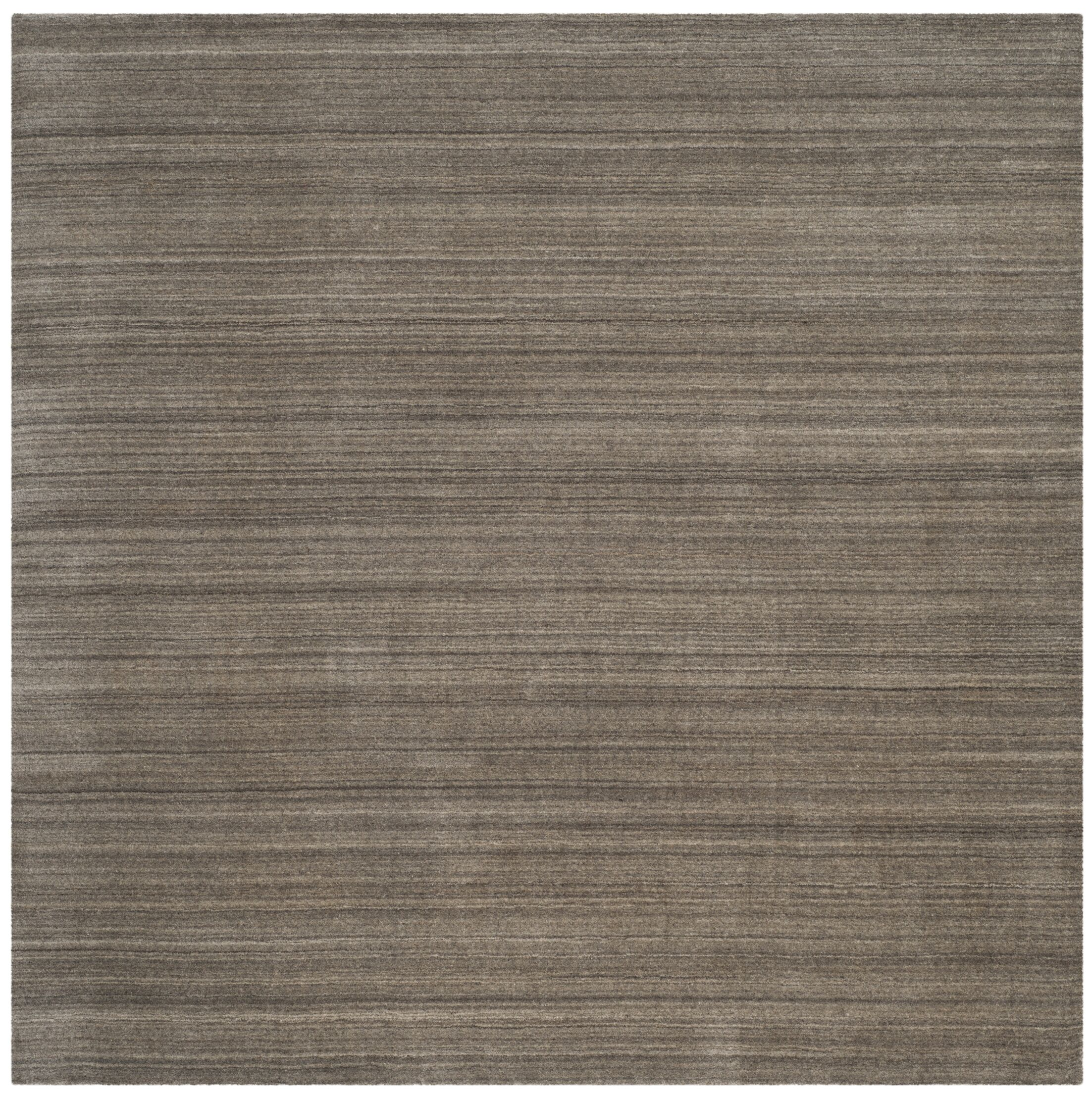 Anson Hand-Loomed Pewter Area Rug Rug Size: Square 6' x 6'