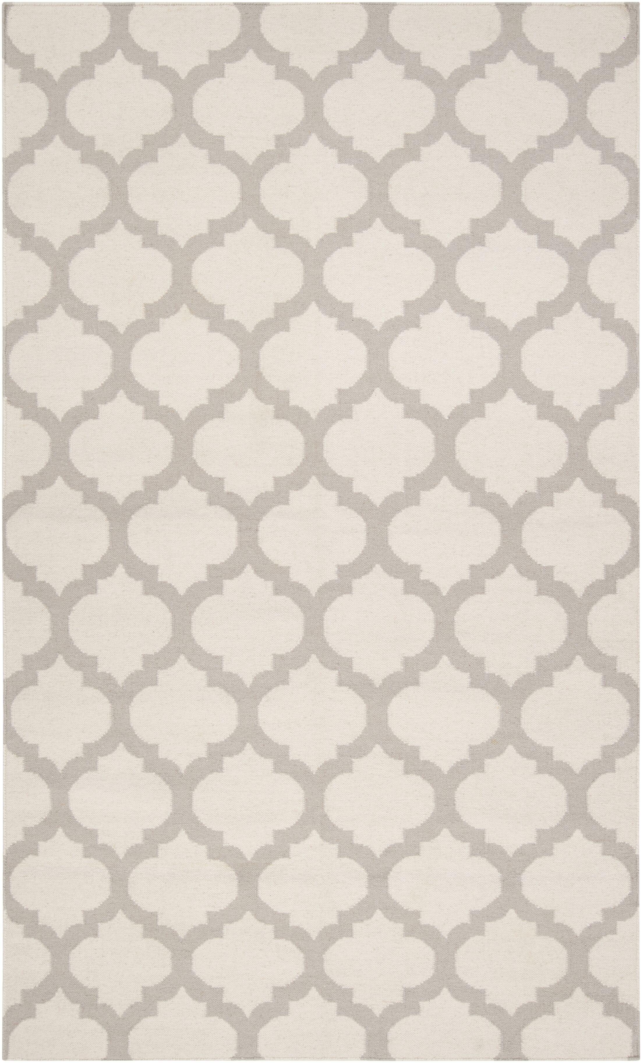 Hackbarth Oatmeal/White Area Rug Rug Size: Rectangle 8' x 11'