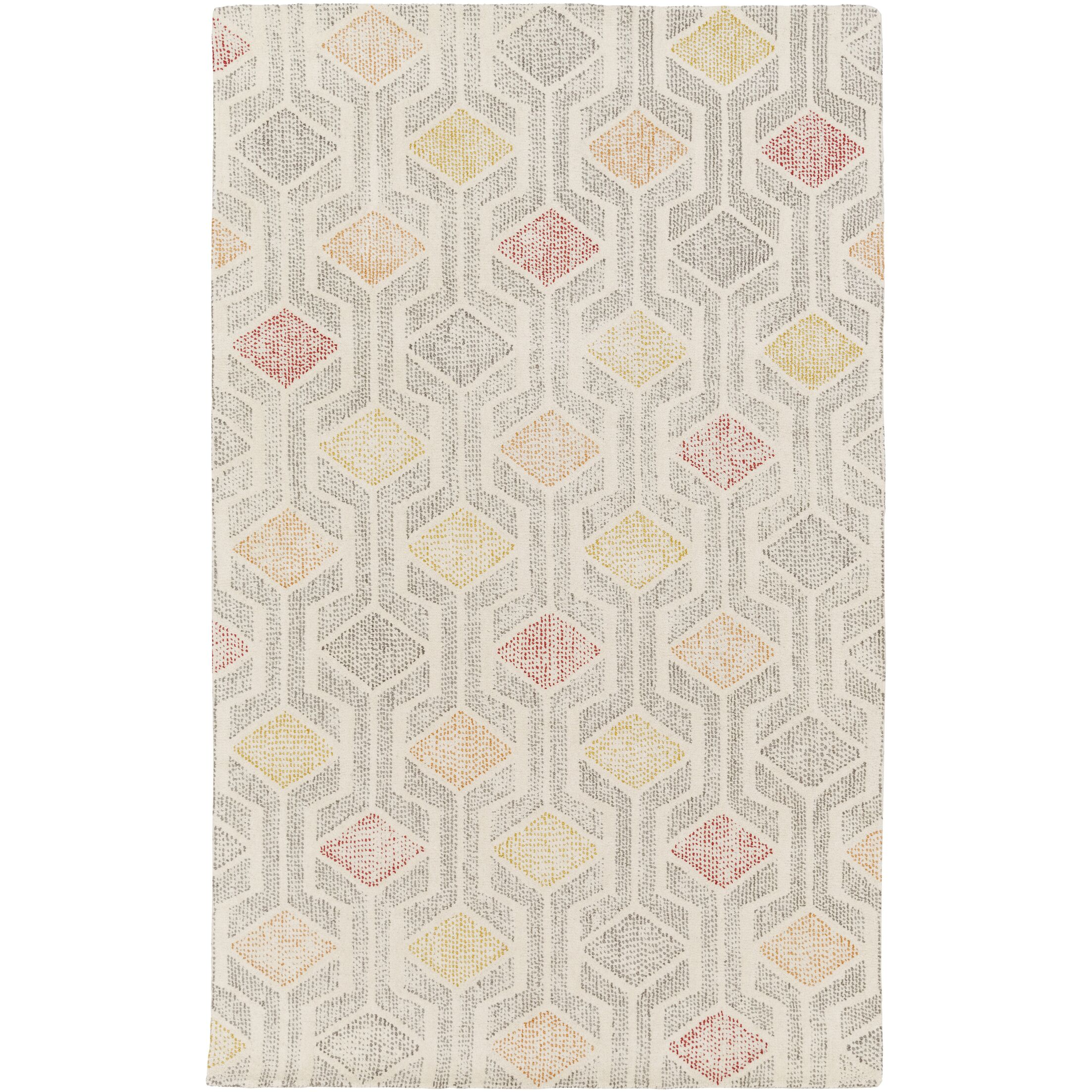 Madero Hand-Tufted Ivory/Gray Area Rug Rug Size: Rectangle 8' x 10'