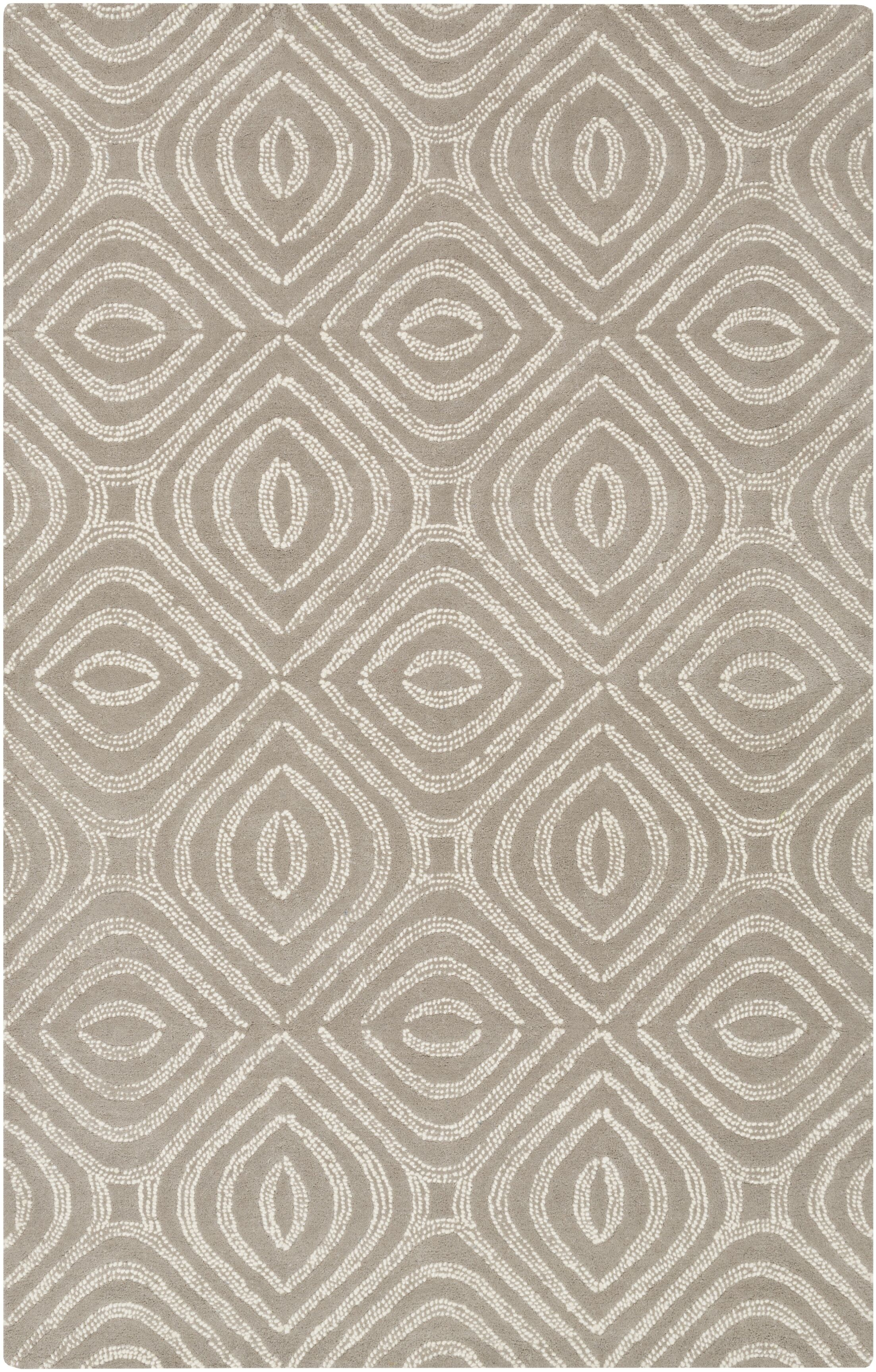 Rosa Hand-Tufted Gray Area Rug Rug Size: Rectangle 3' x 5'
