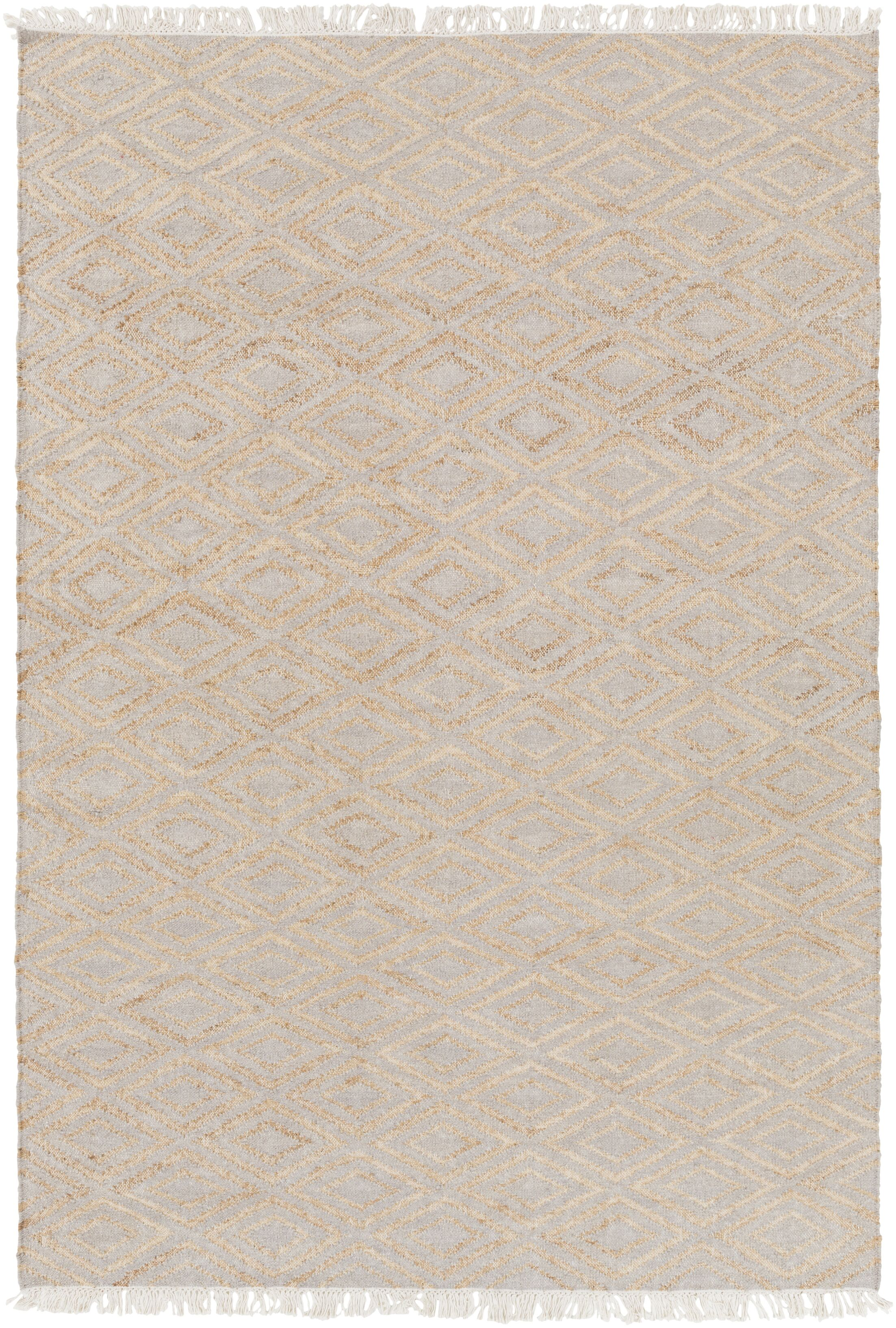 Pascal Hand-Woven Beige Area Rug Rug Size: Rectangle 4' x 6'
