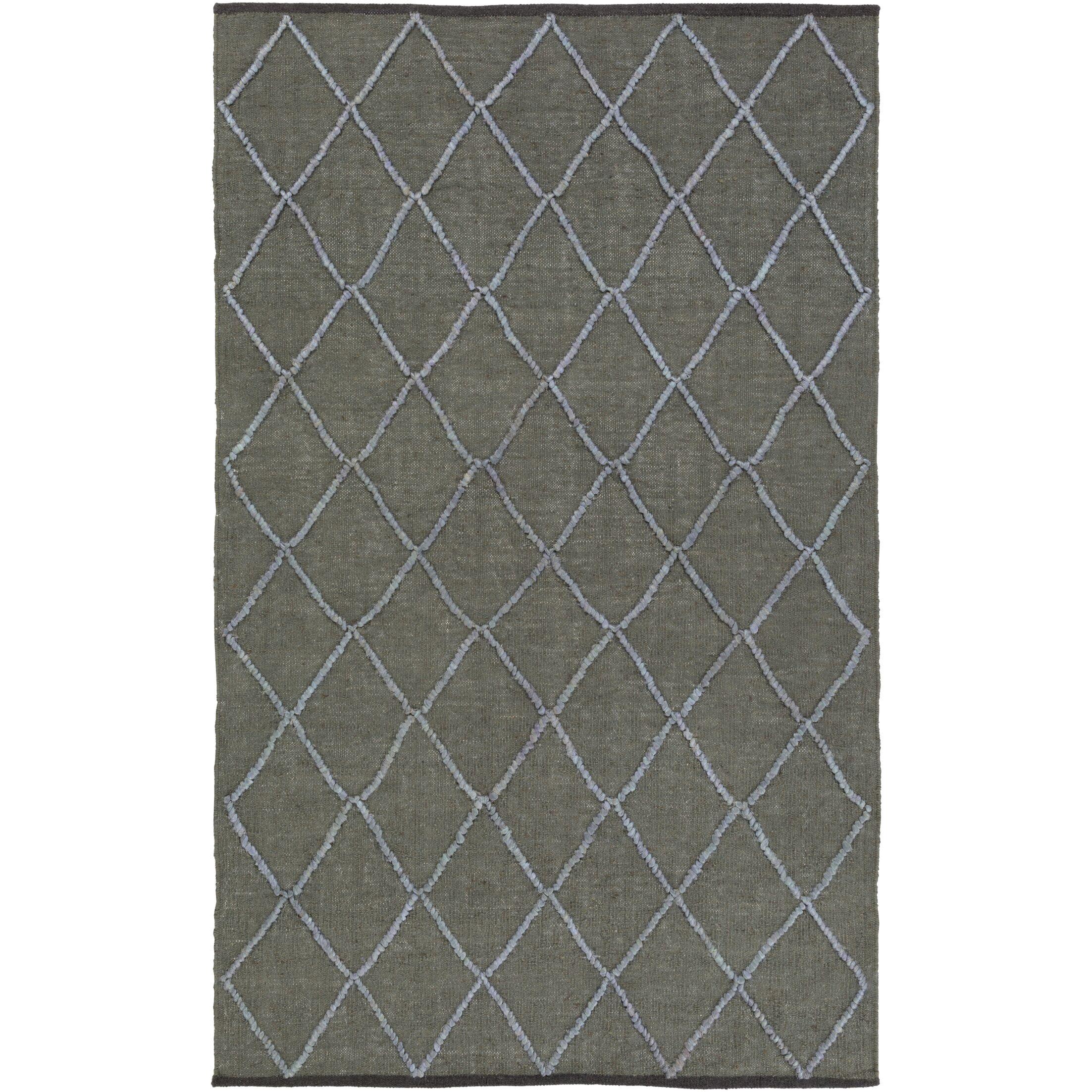 Devan Hand-Woven Olive/Slate Area Rug Rug Size: Rectangle 4' x 6'
