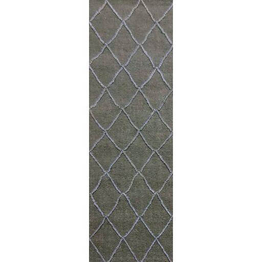 Devan Hand-Woven Olive/Slate Area Rug Rug Size: Runner 2'6