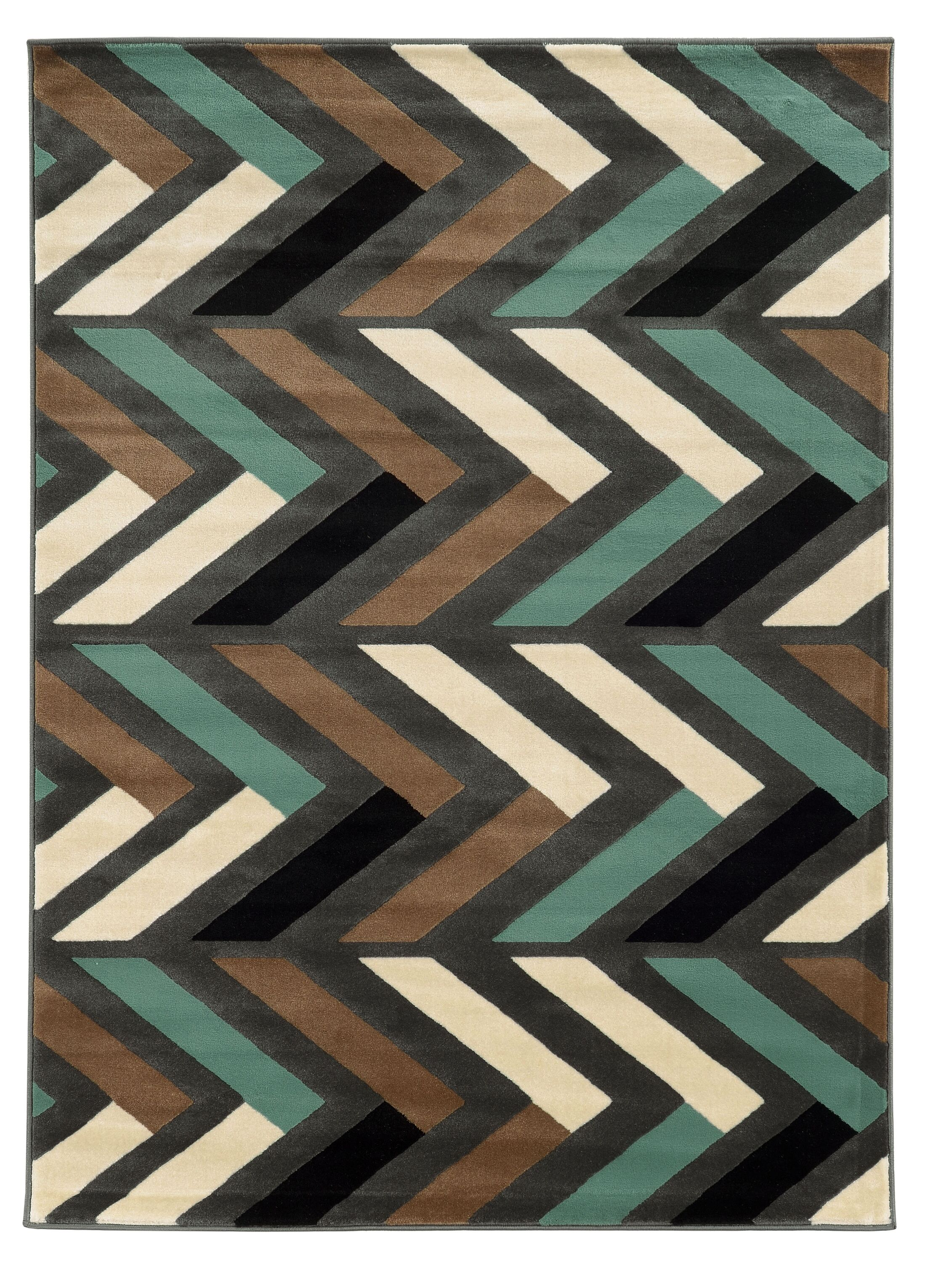 Halvard Gray/Turquoise Area Rug Rug Size: Rectangle 5' x 7'