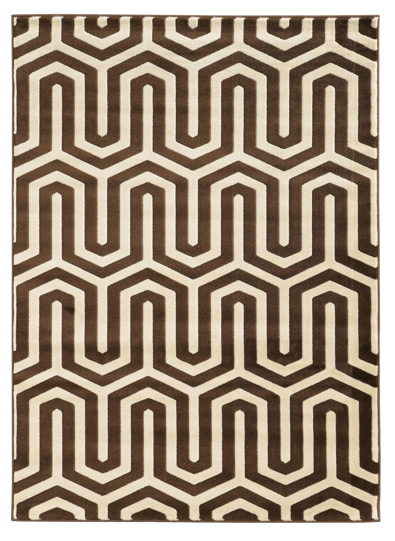 Patridge Ivory/Chocolate Area Rug Rug Size: Rectangle 5' x 7'