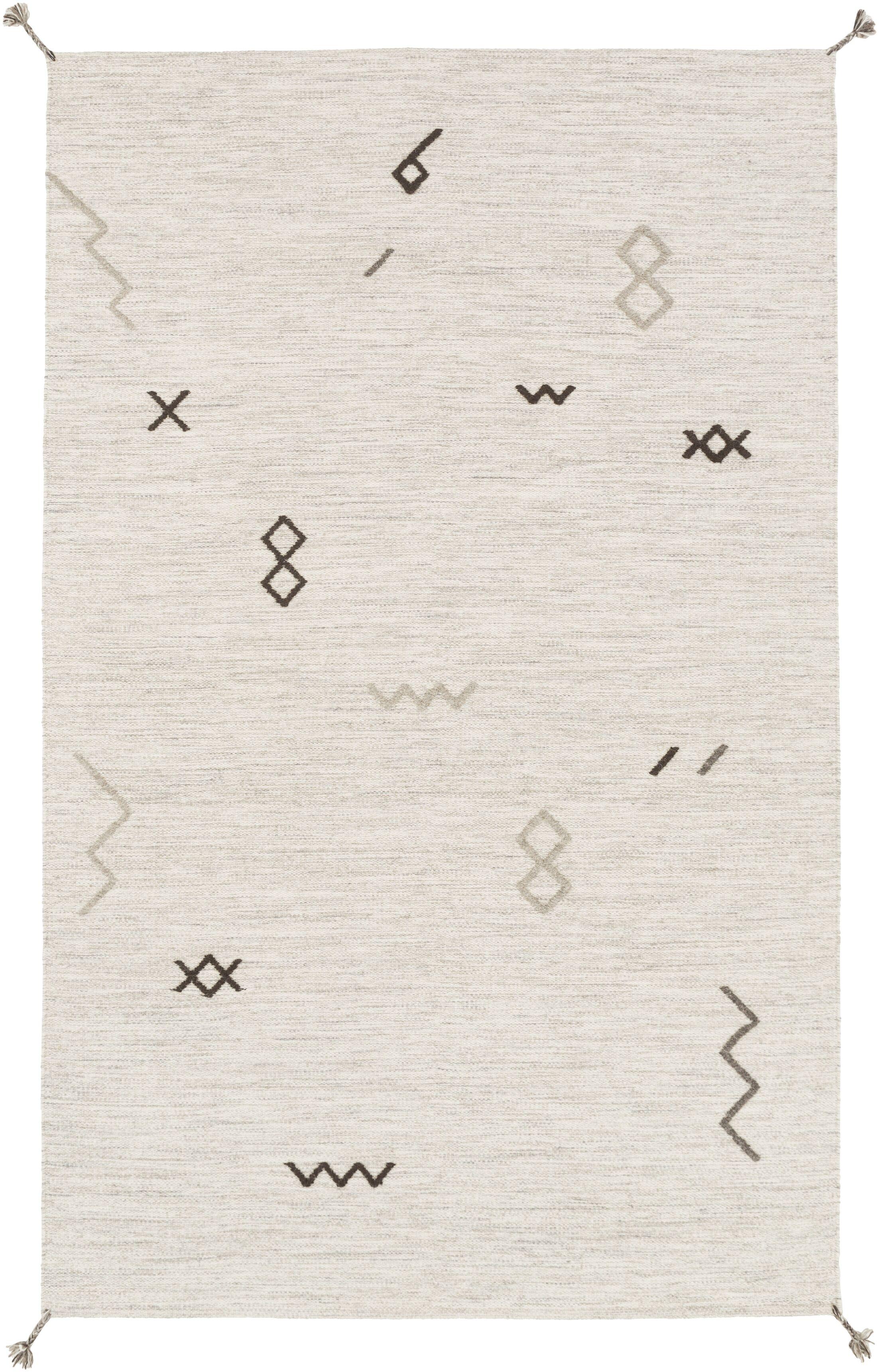 Ciara Hand-Woven Wool Area Rug Rug Size: Rectangle 5' x 8'