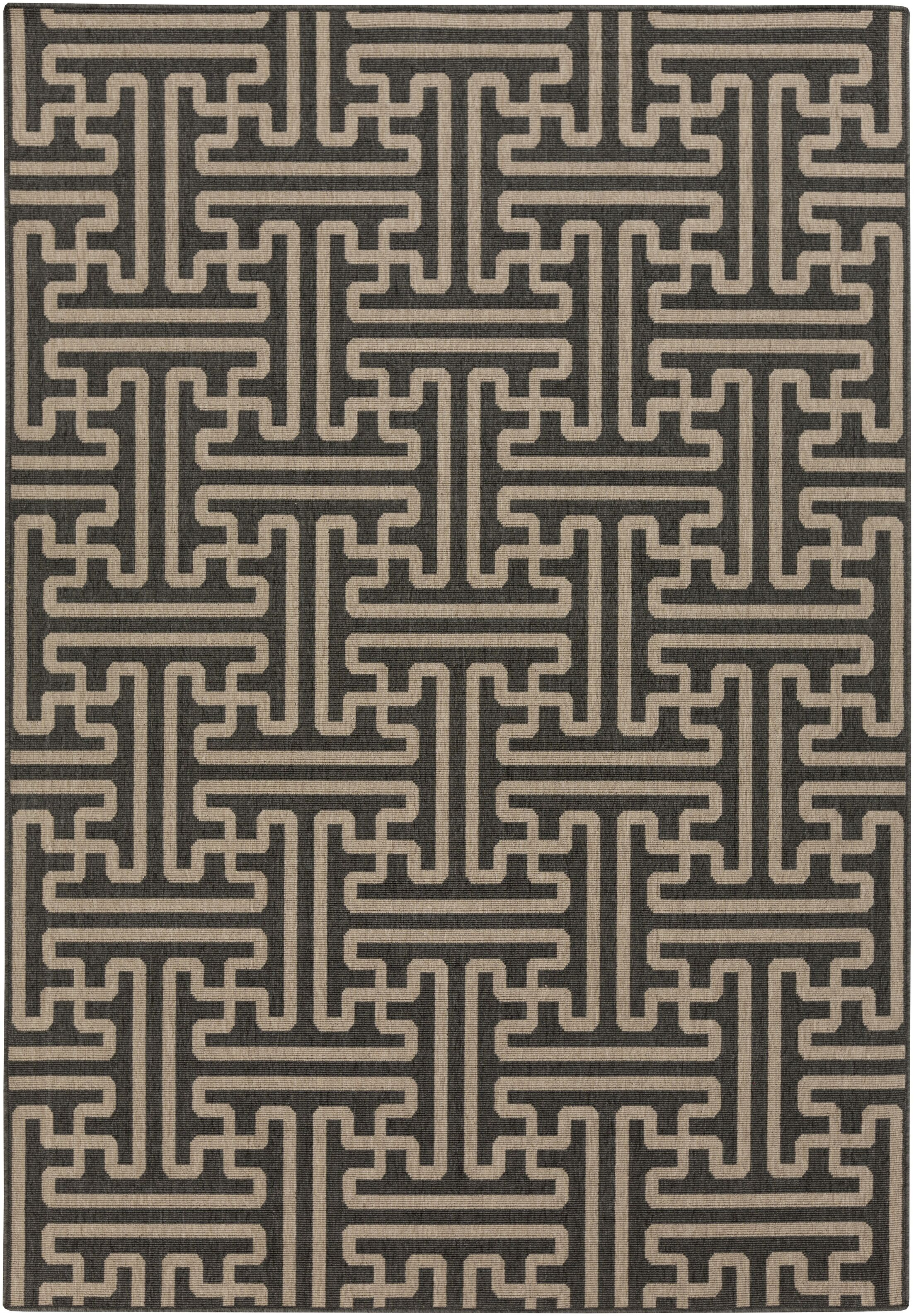 Borquez Black Indoor/Outdoor Area Rug Rug Size: Round 8'9