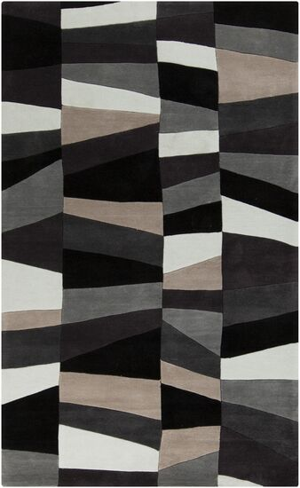 Carlotta Charcoal Gray/Misty White Area Rug Rug Size: Rectangle 5' x 8'