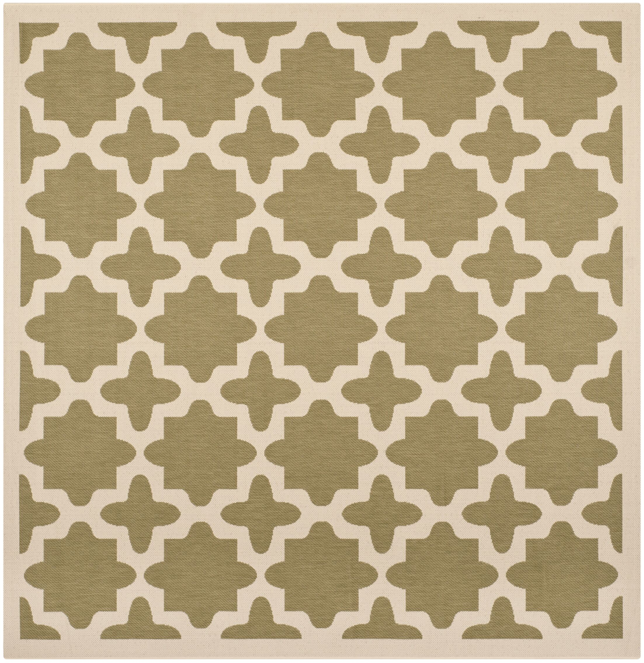 Fredricks Green/Beige Indoor/Outdoor Area Rug Rug Size: Square 7'10