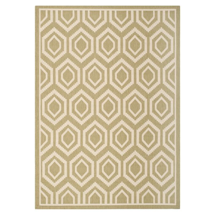 Catharine Green/Beige Indoor/Outdoor Rug Rug Size: Rectangle 8' x 11'
