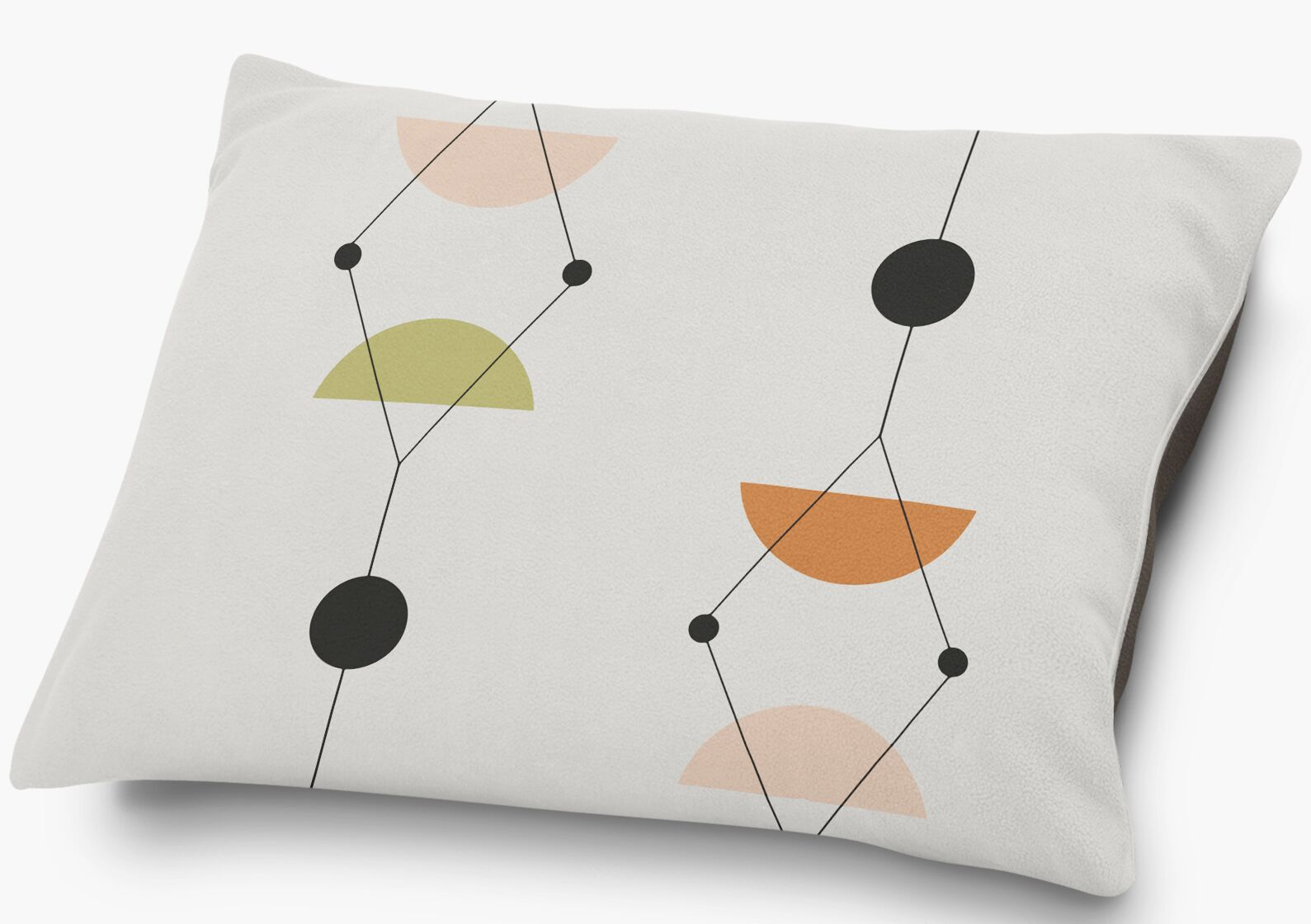 Pittman Pillow with Super Plush Poly Top Color: Pink/Multi
